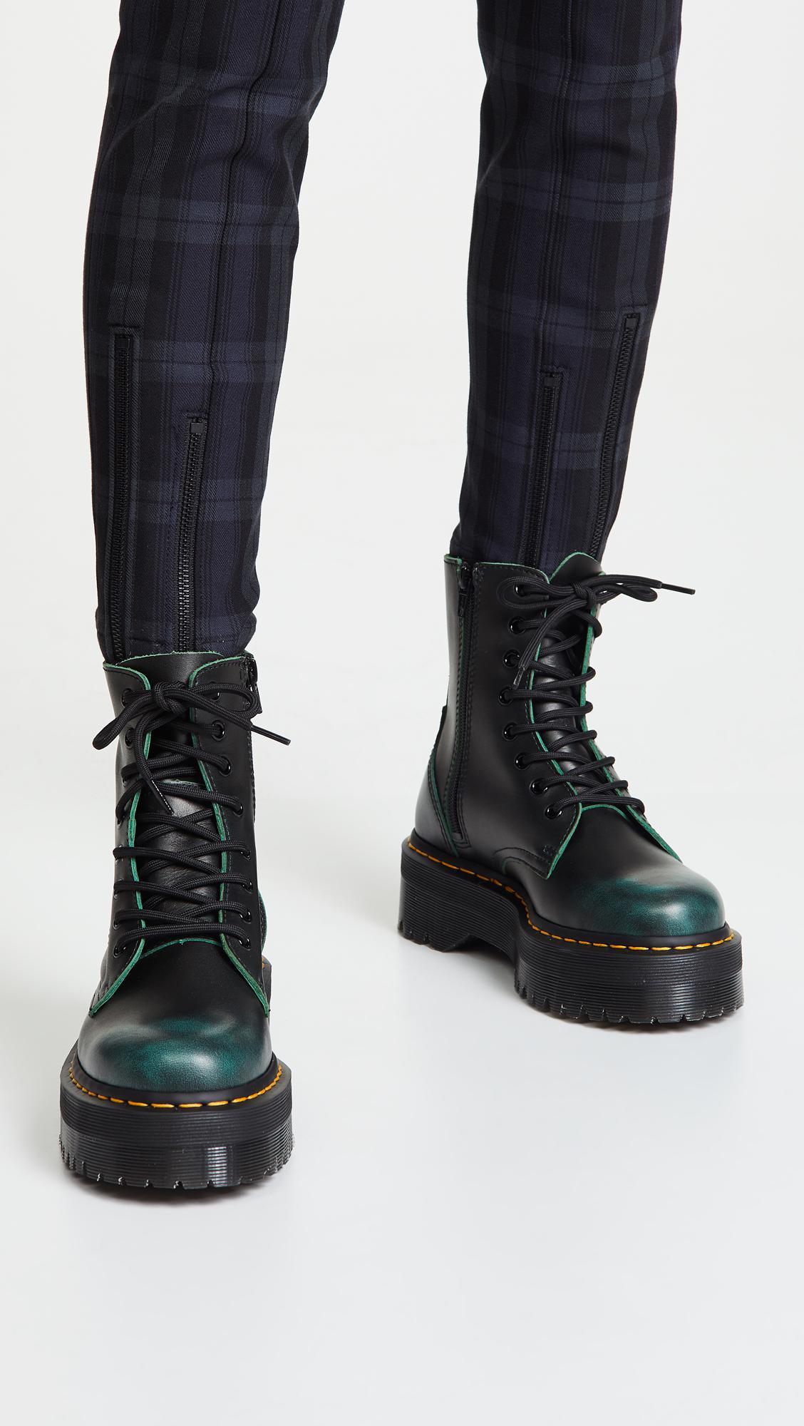 f9bf7e86d2e155 Dr. Martens Jadon 8 Eye Boots in Green - Lyst