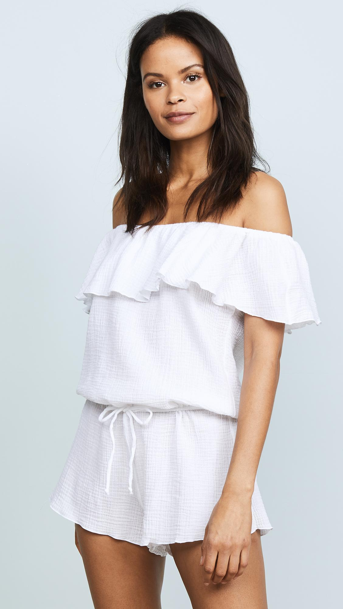 7d4594ab0d22 Eberjey Nomad Tula Romper in White - Lyst