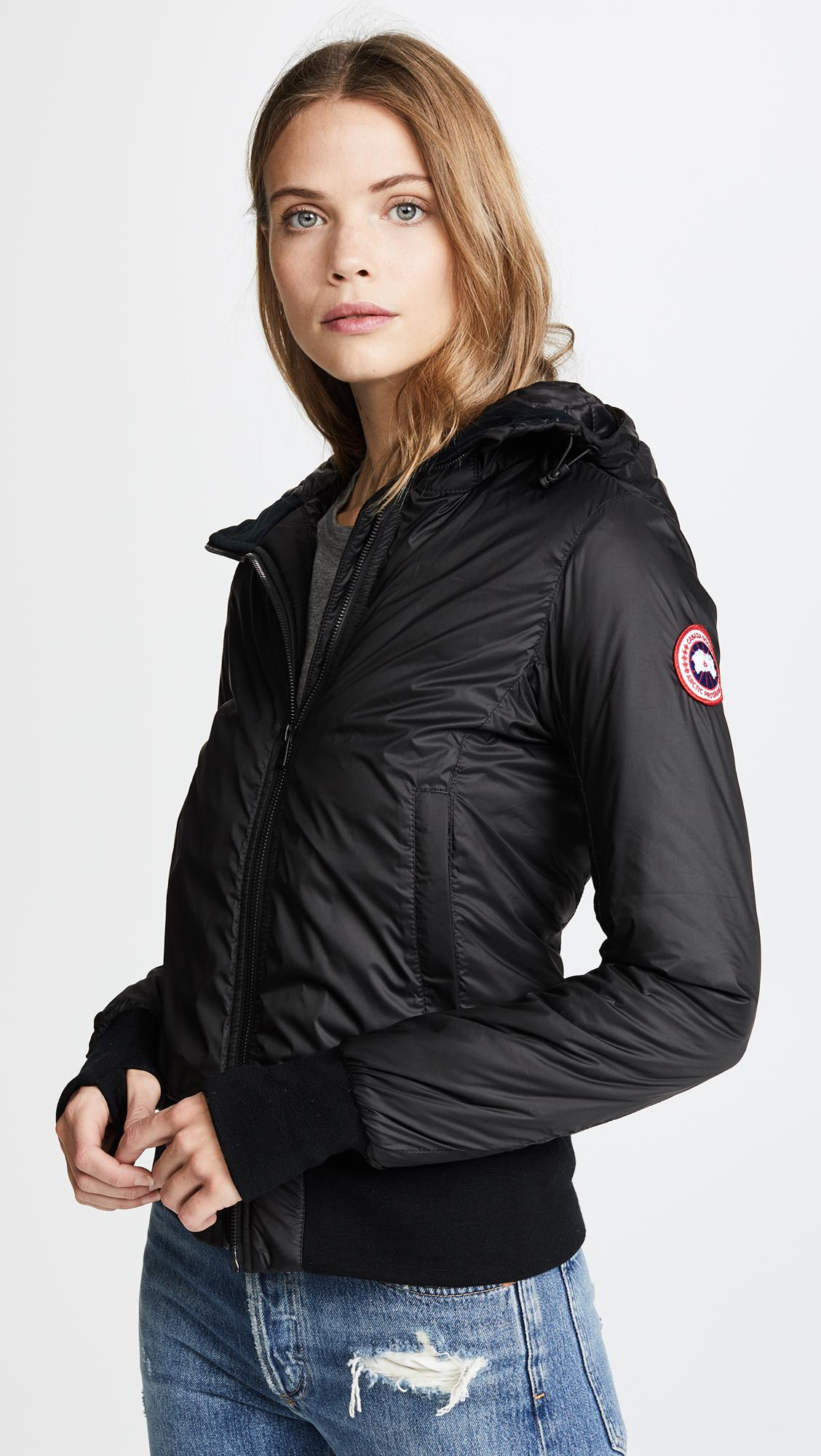 d18e62d7143b Canada Goose Dore Hooded Jacket in Black - Save 7% - Lyst
