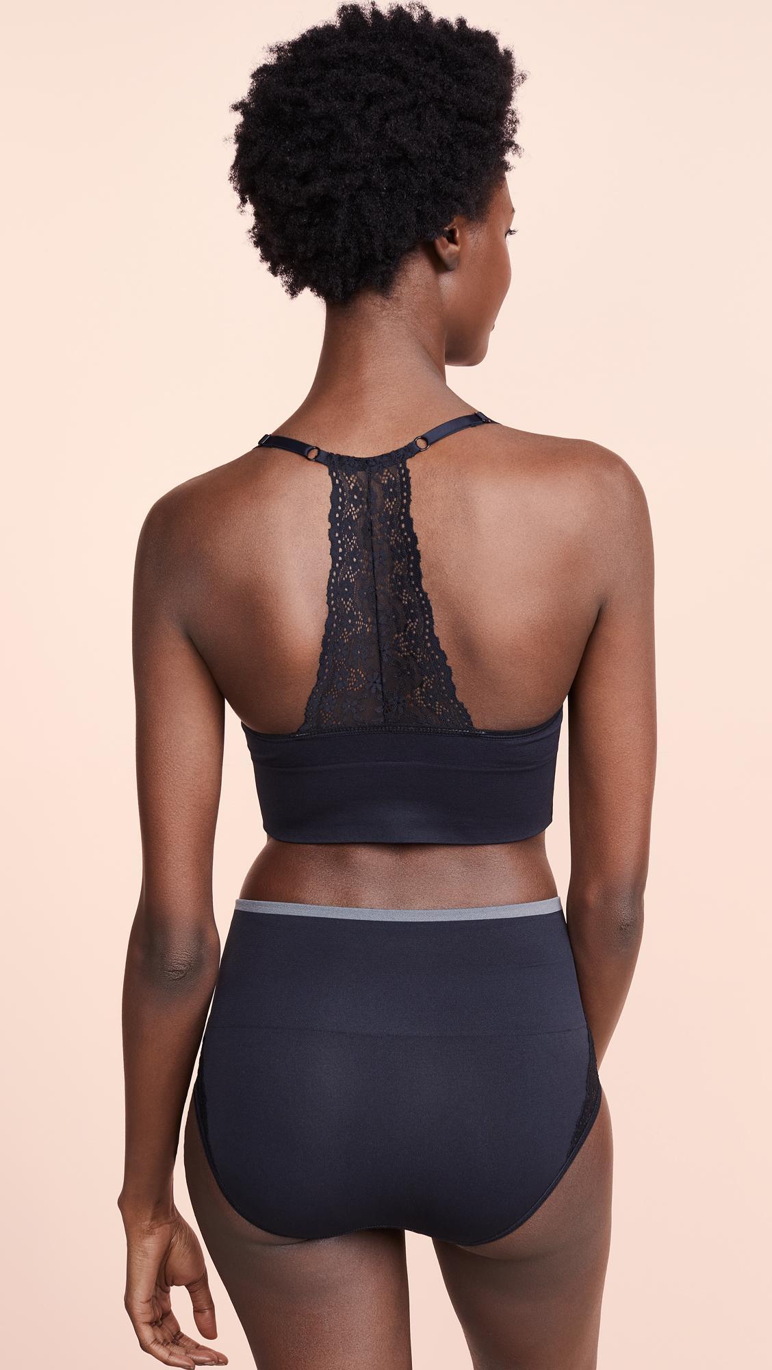 6667a79fb9 Yummie - Black Ultralight Seamless Lace Back Bralette - Lyst. View  fullscreen