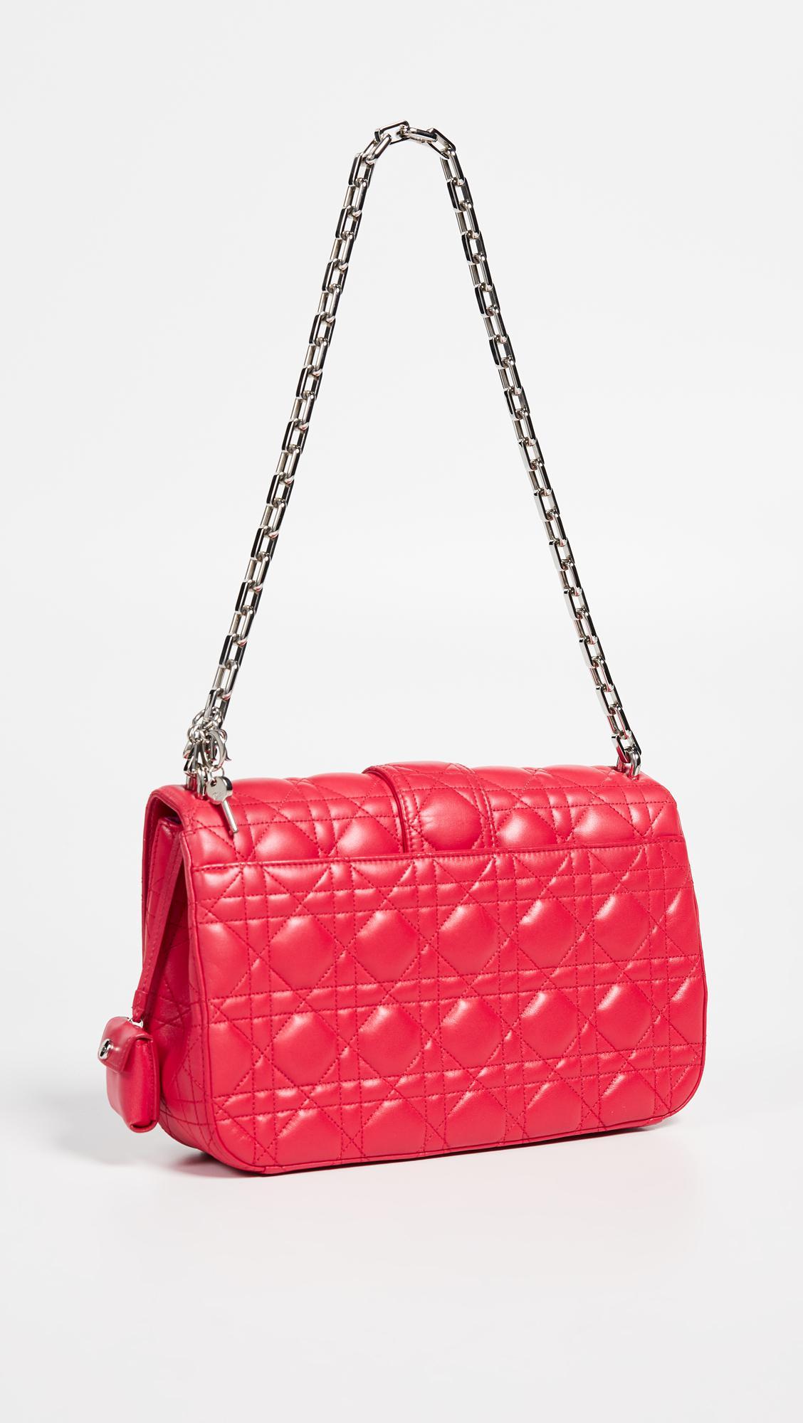 0390ac8028a5 What Goes Around Comes Around - Dior Pink Lambskin Miss Dior Medium Bag -  Lyst. View fullscreen