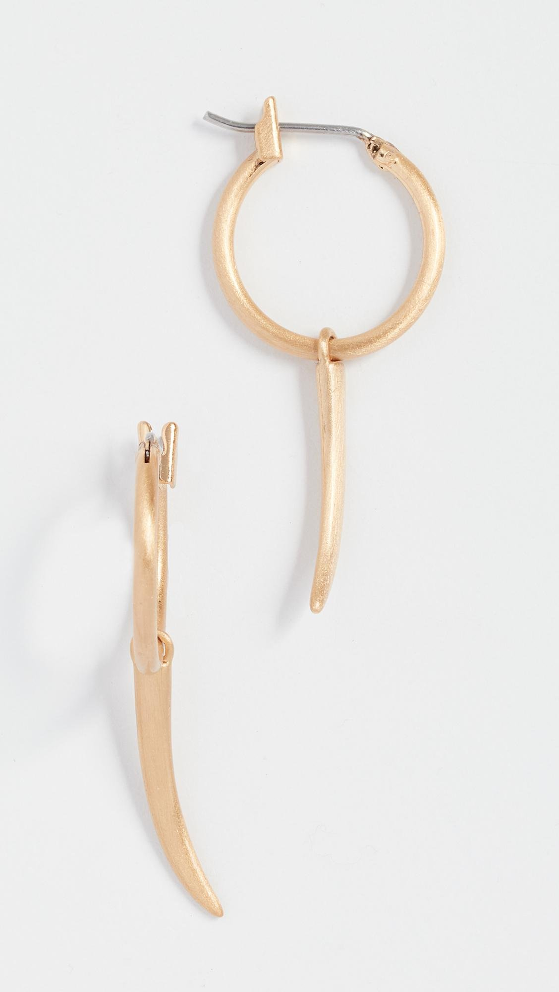 Rebecca Minkoff Mini Golden Horn Stud Earrings WFZKcoHXT