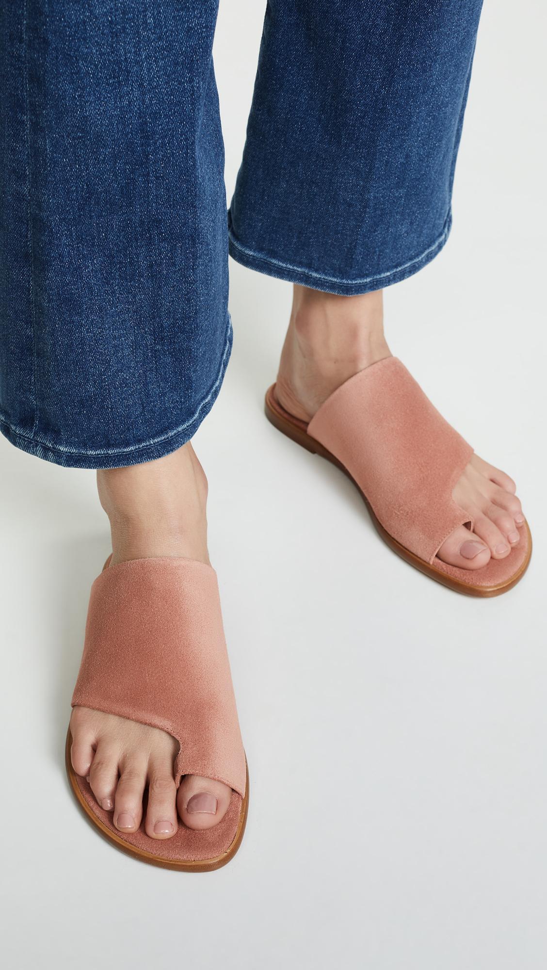 7ec9bd450a0 Vince - Multicolor Edris Toe Ring Slide Sandals - Lyst. View fullscreen