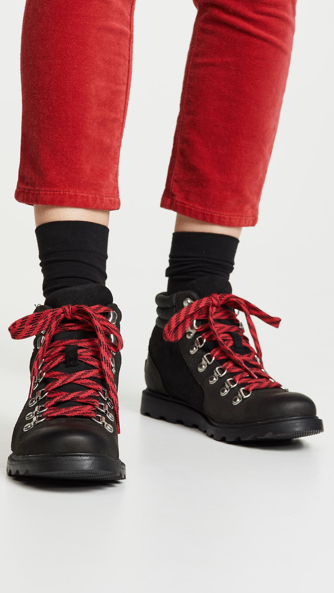 709598fd9 Sorel Ainsley Conquest Boots in Black - Lyst