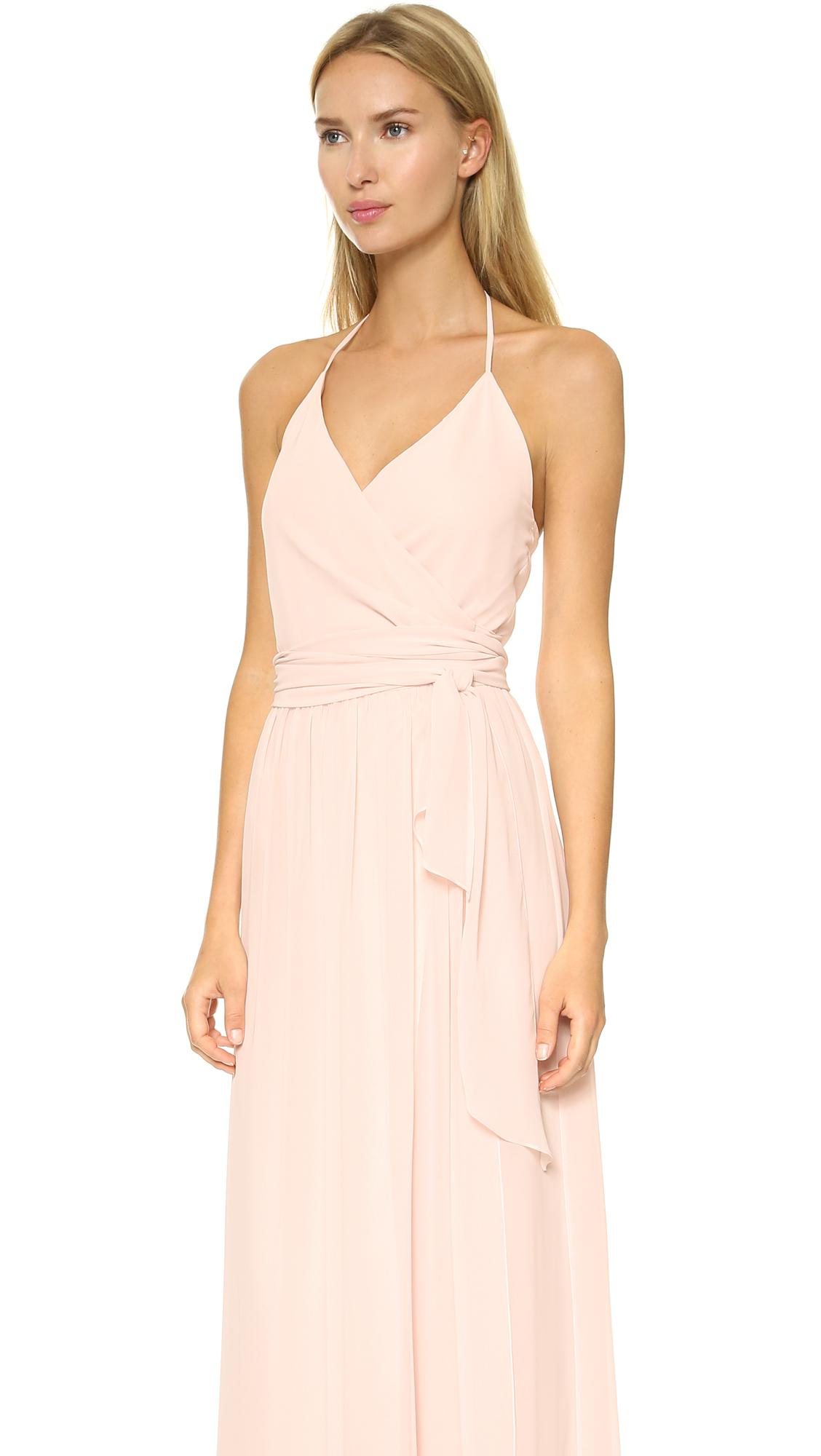 Joanna August Dc Halter Wrap Dress In Natural Lyst