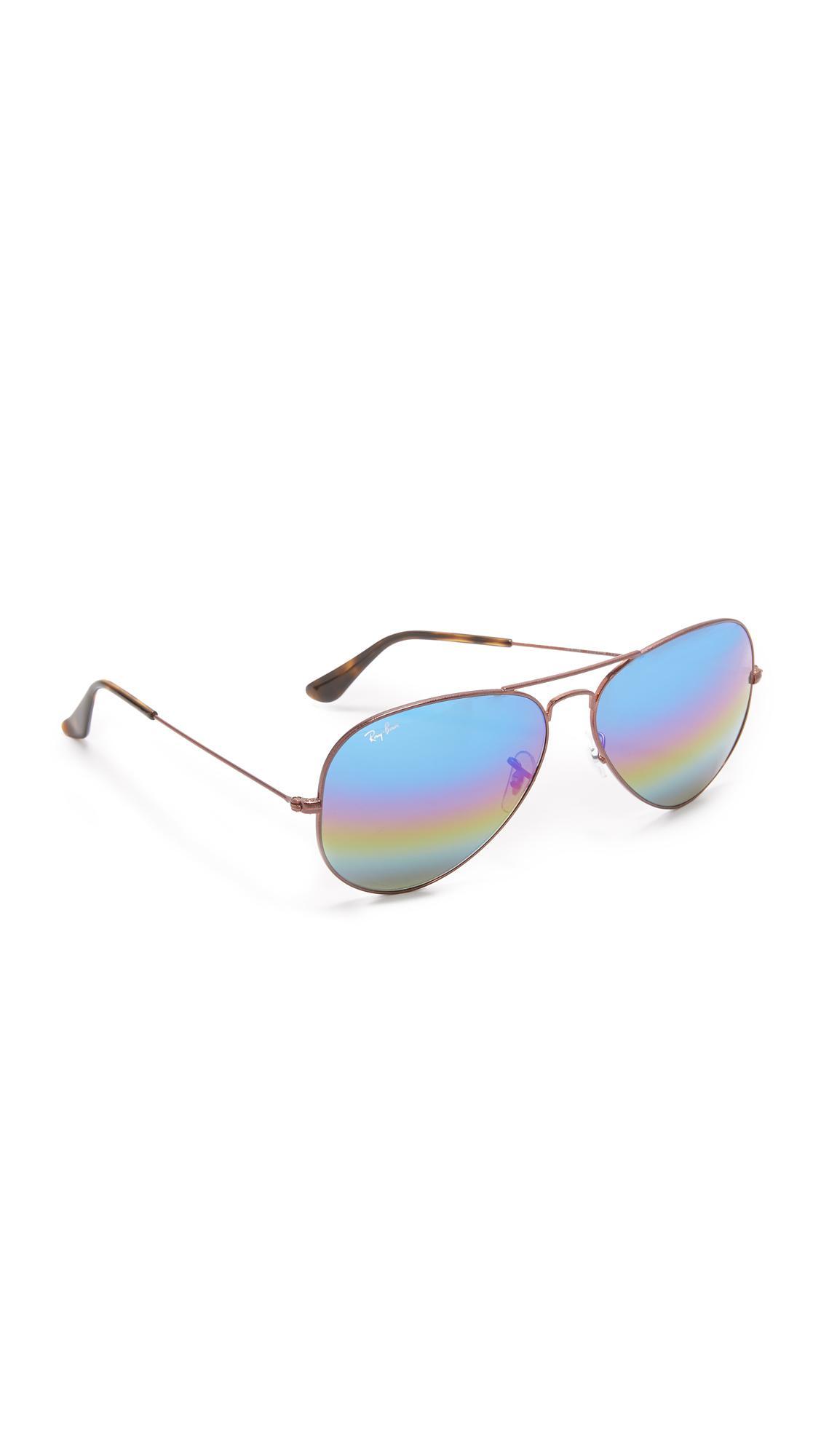 26a07463b9 ... promo code ray ban. womens blue rainbow mirrored aviator sunglasses  07ce7 28977