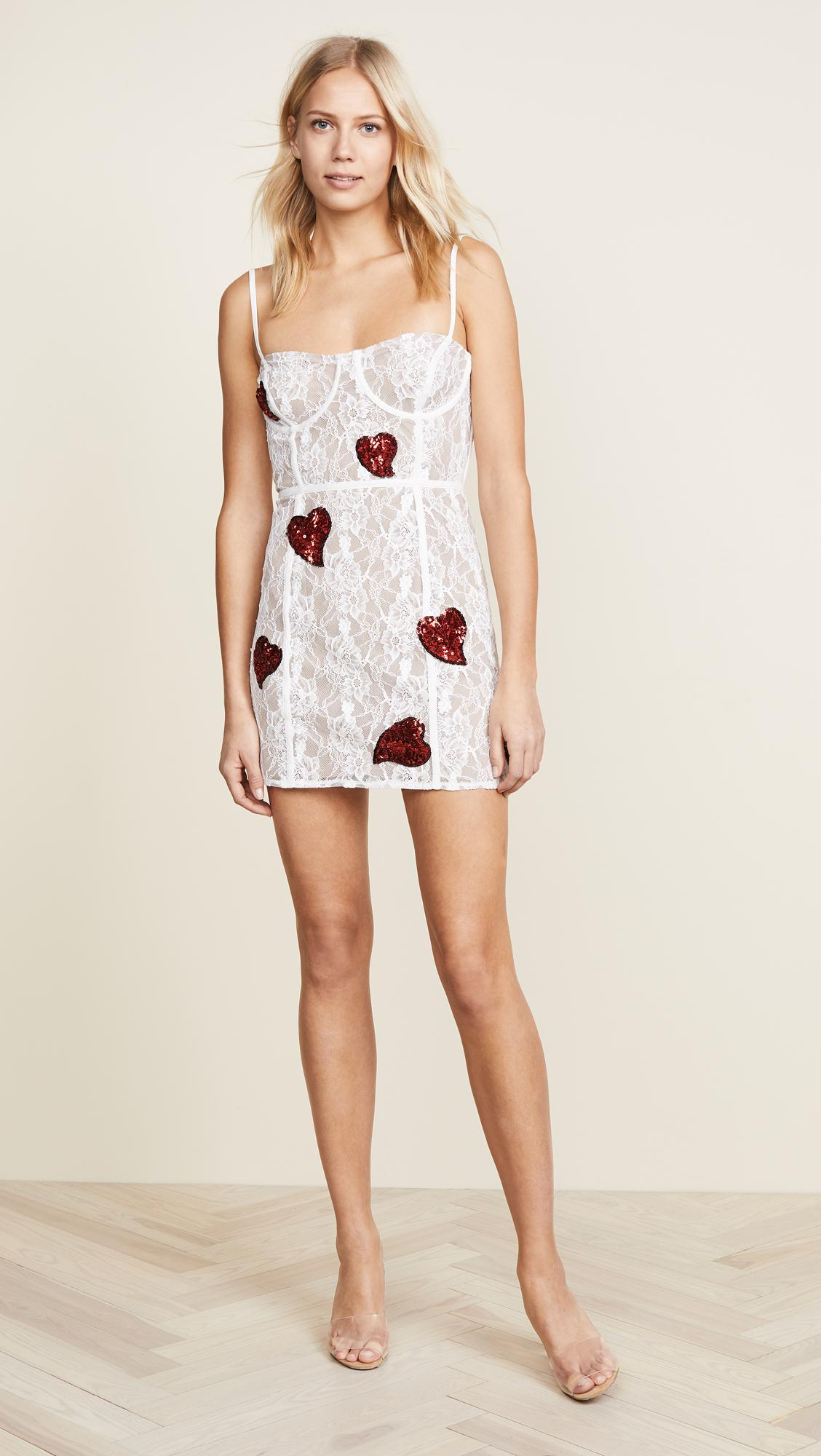 lyst for love lemons la christy mini dress in white. Black Bedroom Furniture Sets. Home Design Ideas