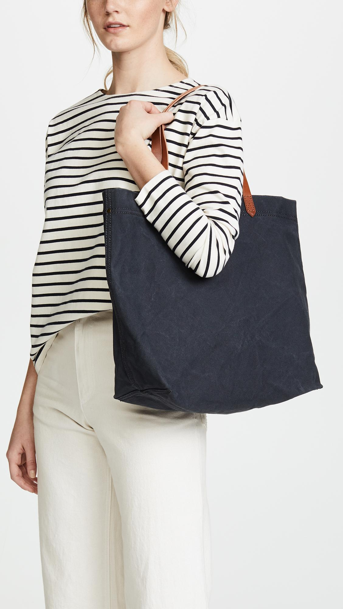 5f11b41d9 Madewell Heavy Canvas Transport Tote Bag in Black - Lyst
