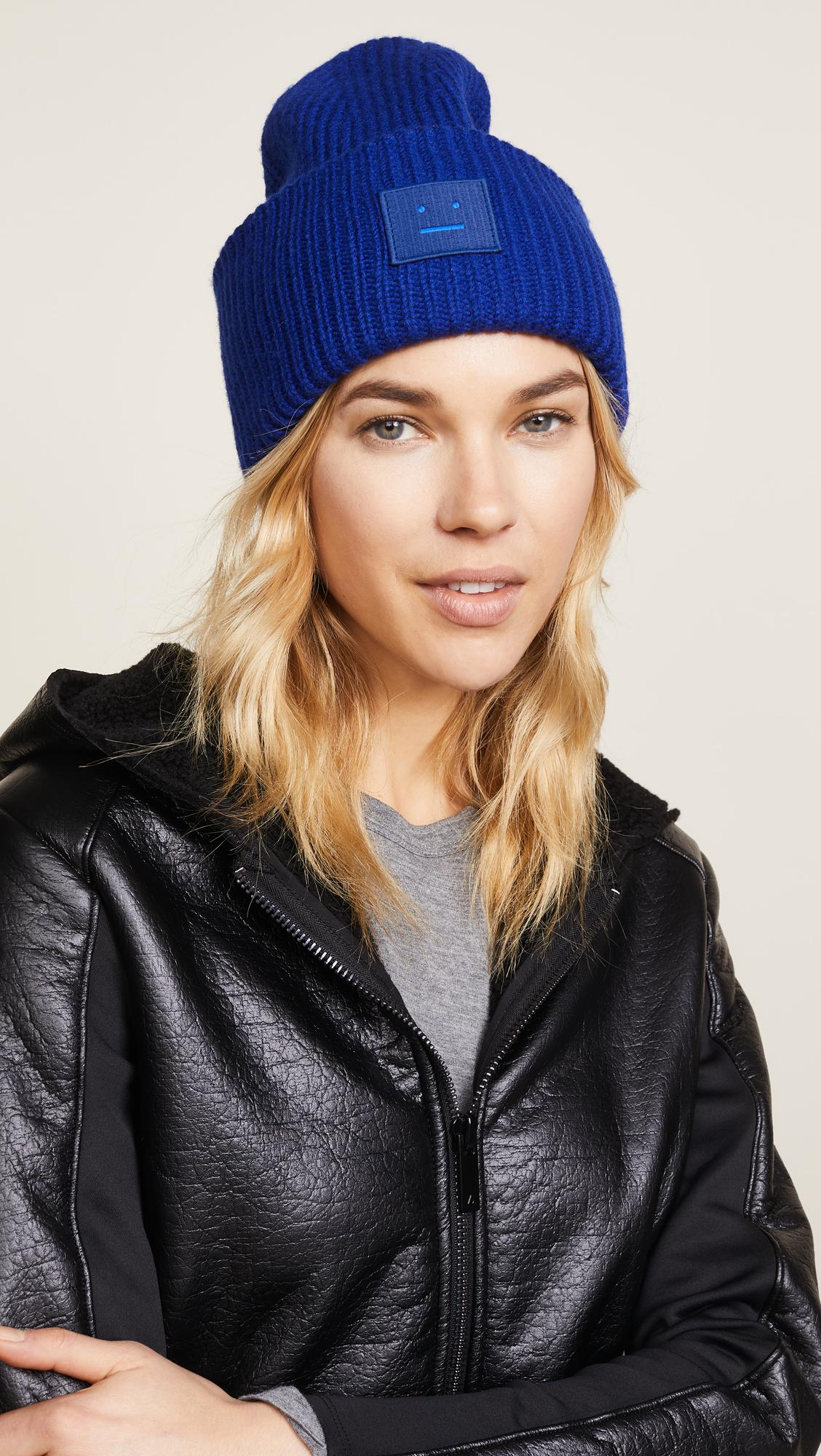 bb619c97fea Lyst - Acne Studios Pansy S Face Hat in Blue
