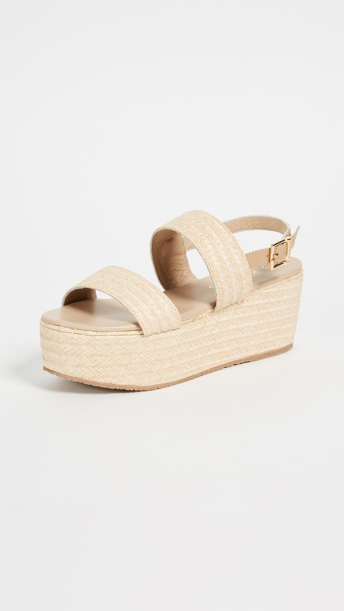 dd1a8f3e36b5 Lyst - Kaanas Goa Raffia Sandals in Natural - Save 38%