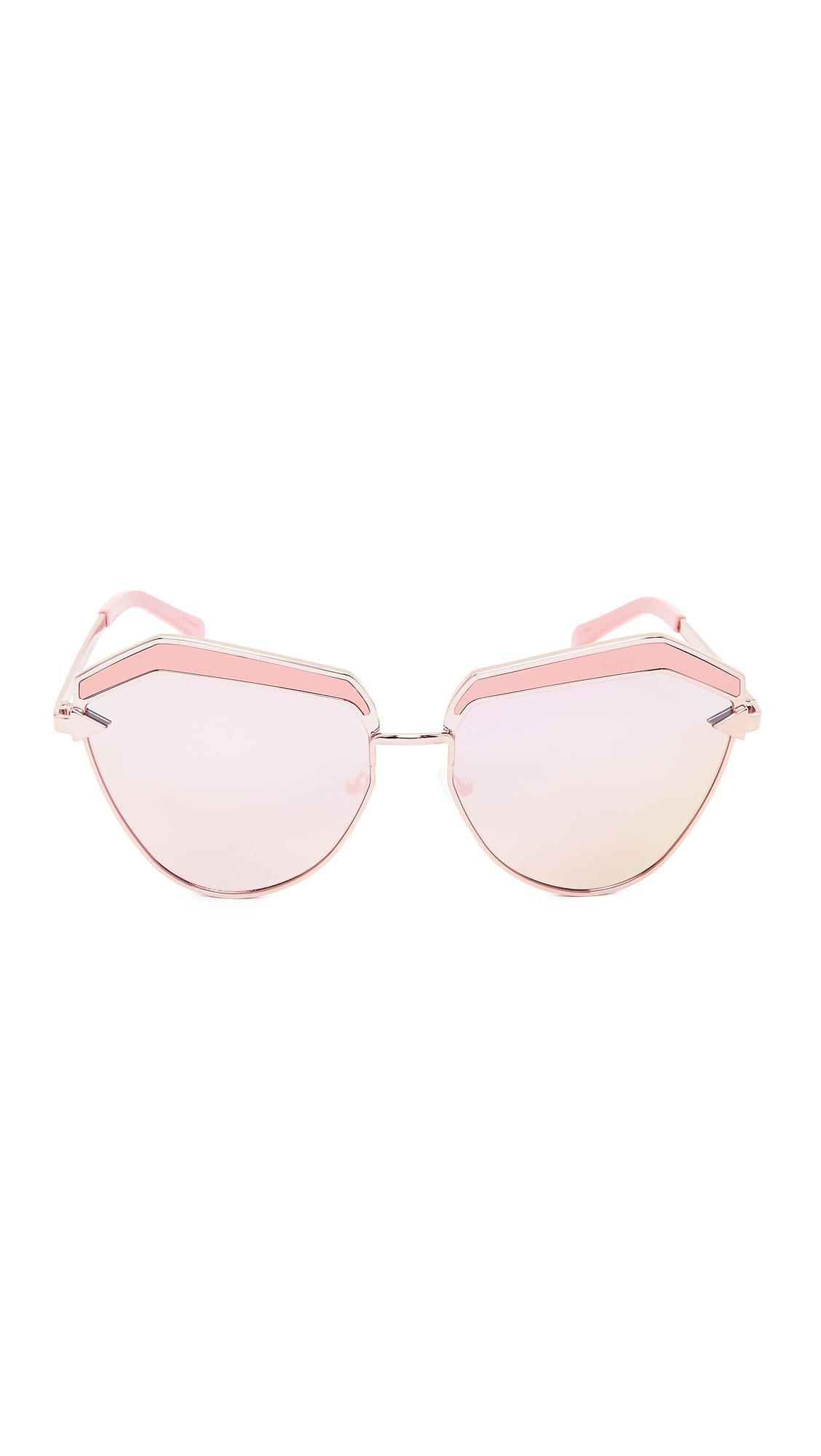 bcbc77c893c2 Karen Walker Jacinto Sunglasses in Pink - Lyst