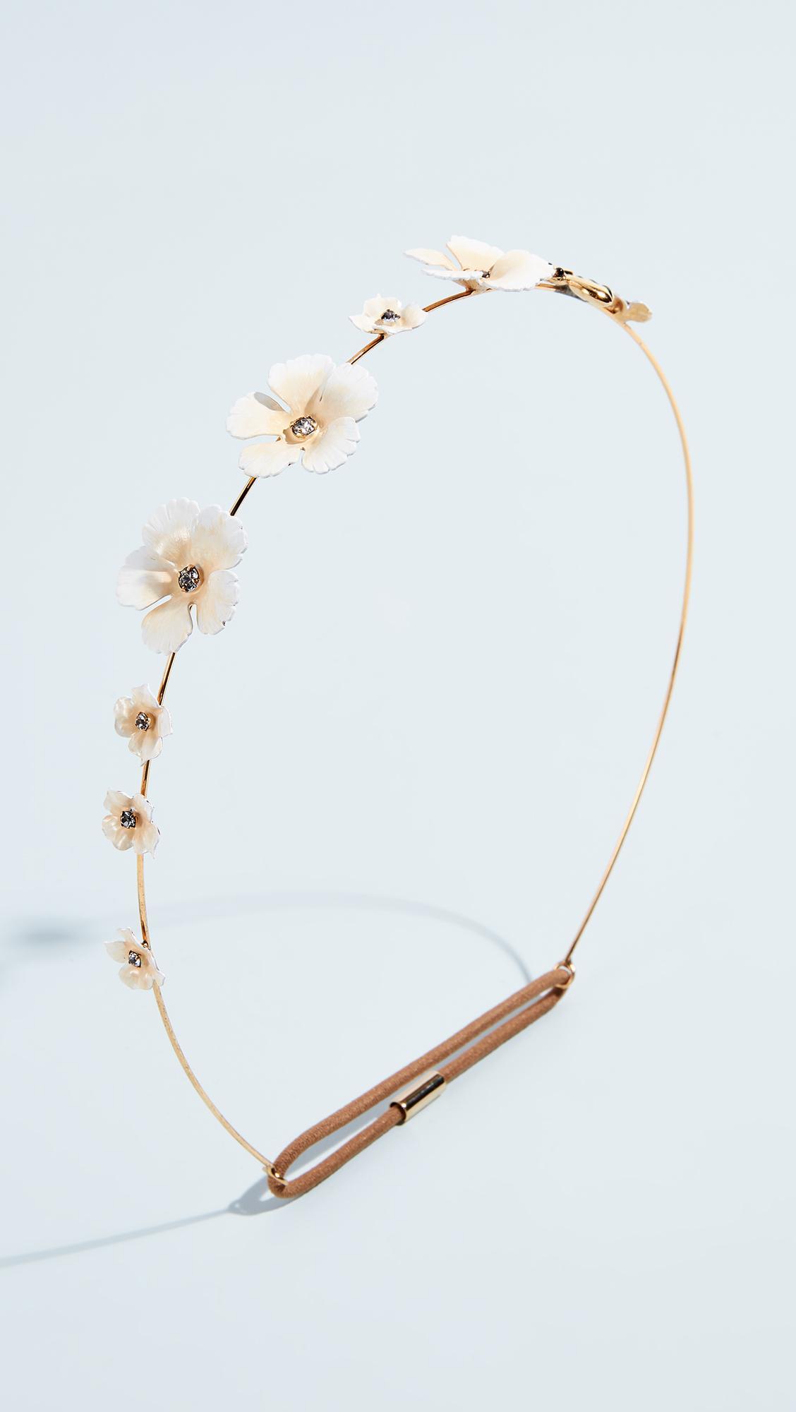 Jennifer Behr Painted Flower & Bee Headband 9lUPEH