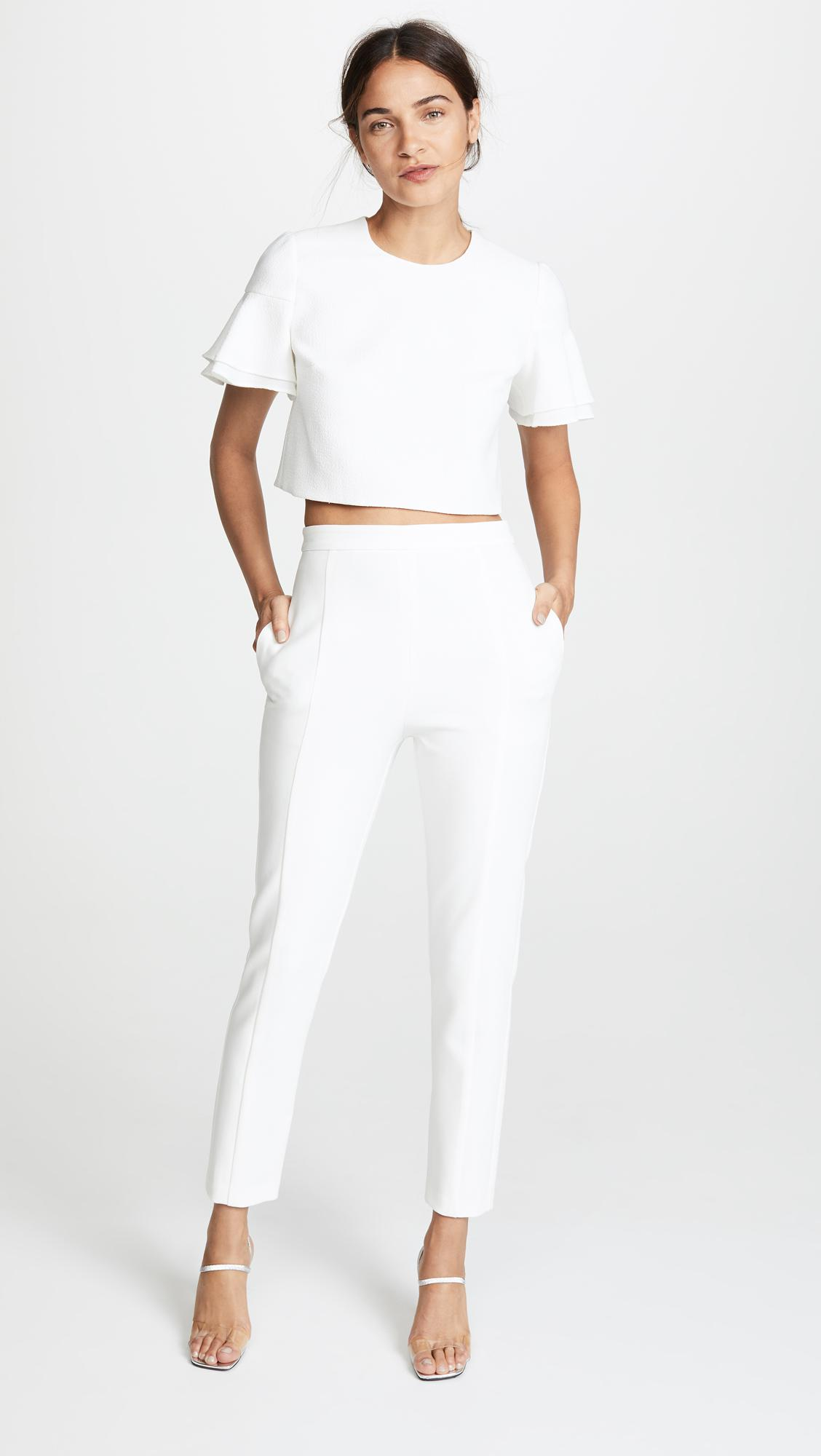 Lyst Black Halo Syon 2 Piece Jumpsuit In White
