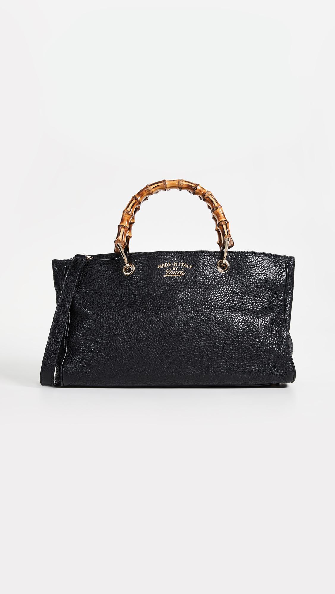 18085ce9f6d Lyst - What Goes Around Comes Around Gucci Bamboo Shopper in Black