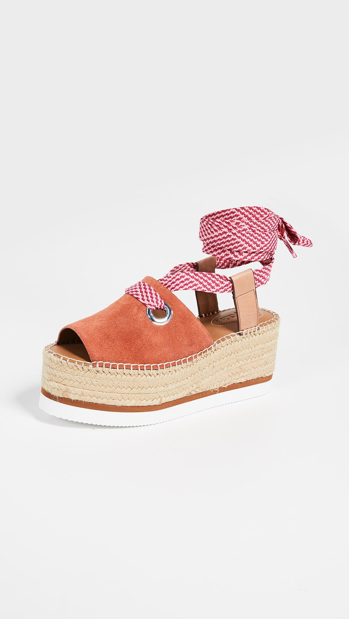 8902e715ec19 Lyst - See By Chloé Glyn Amber Lace Up Espadrilles