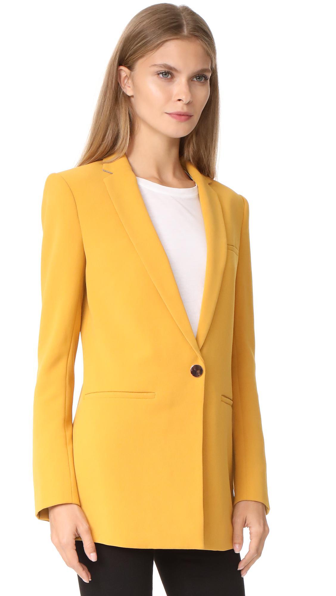 Blazers For Men Pinterest: Laveer Boyfriend Blazer In Yellow