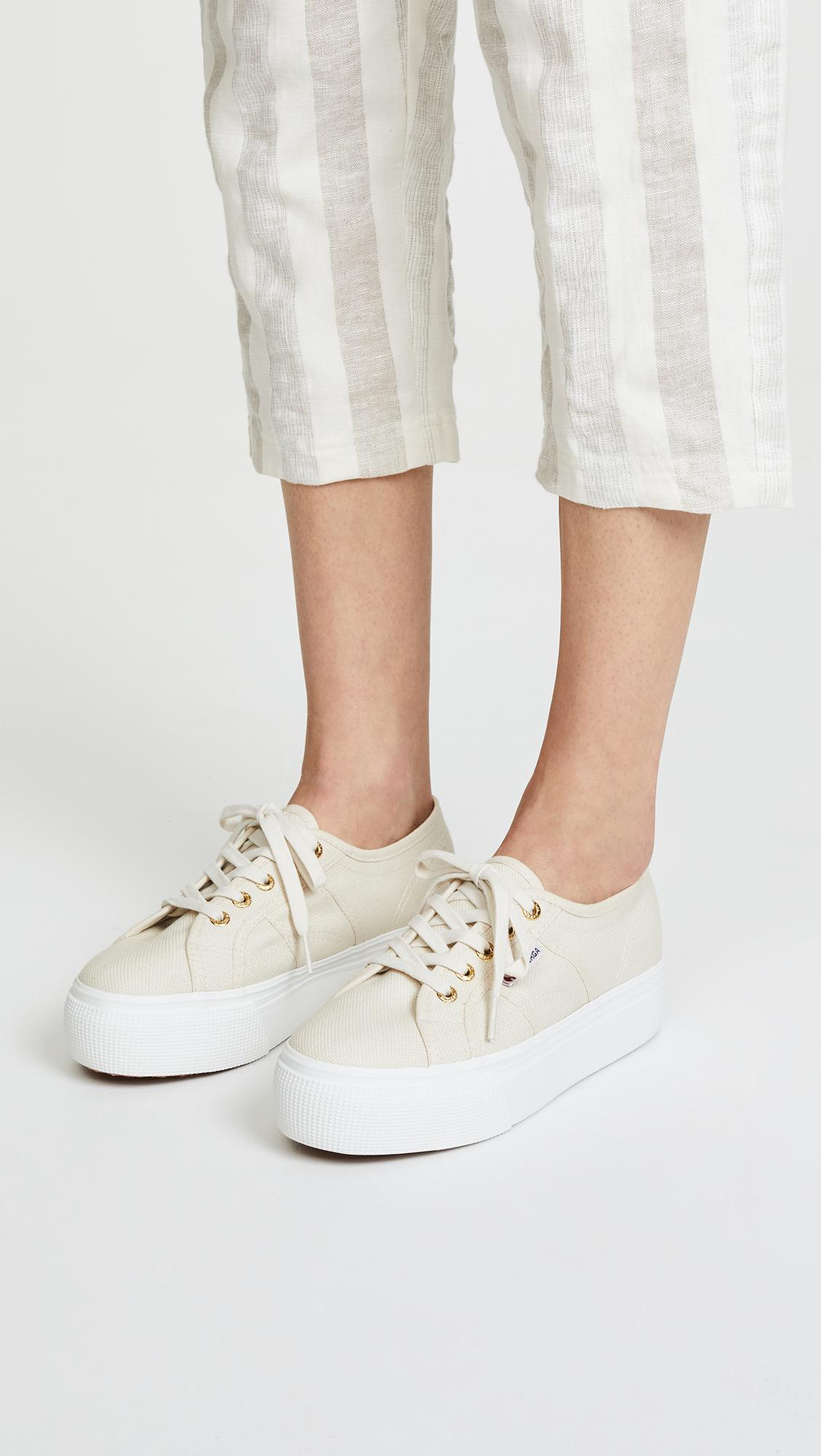 f073efcec030 Superga 2790 Platform Sneakers in White - Lyst