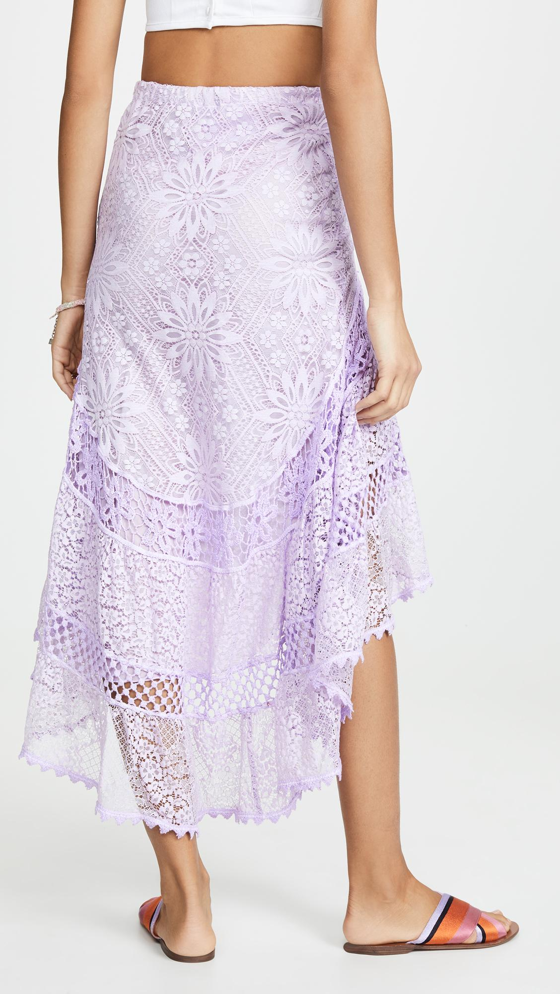 1b79966f87a4 Temptation Positano - Purple Lamu High Low Skirt - Lyst. View fullscreen