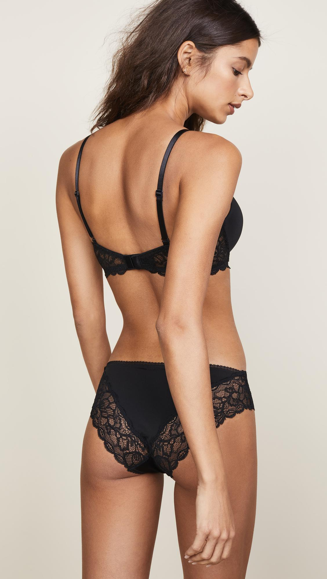519609d071 Calvin Klein - Black Seductive Comfort Demi Lift Multiway Bra - Lyst. View  fullscreen