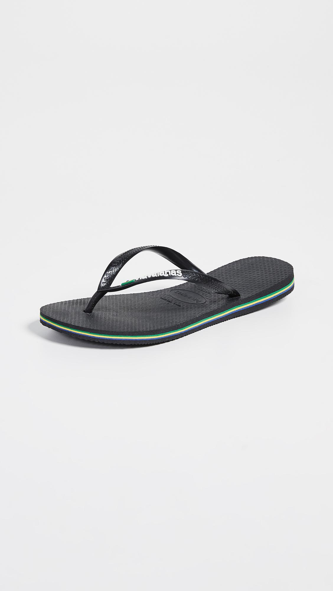 e99aa9897432 Lyst - Havaianas Slim Brazil Flip Flops in Black