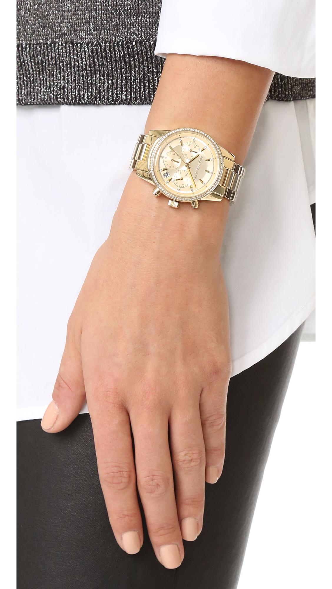 0dfdd3a88 Michael Kors Ritz Watch in Metallic - Lyst