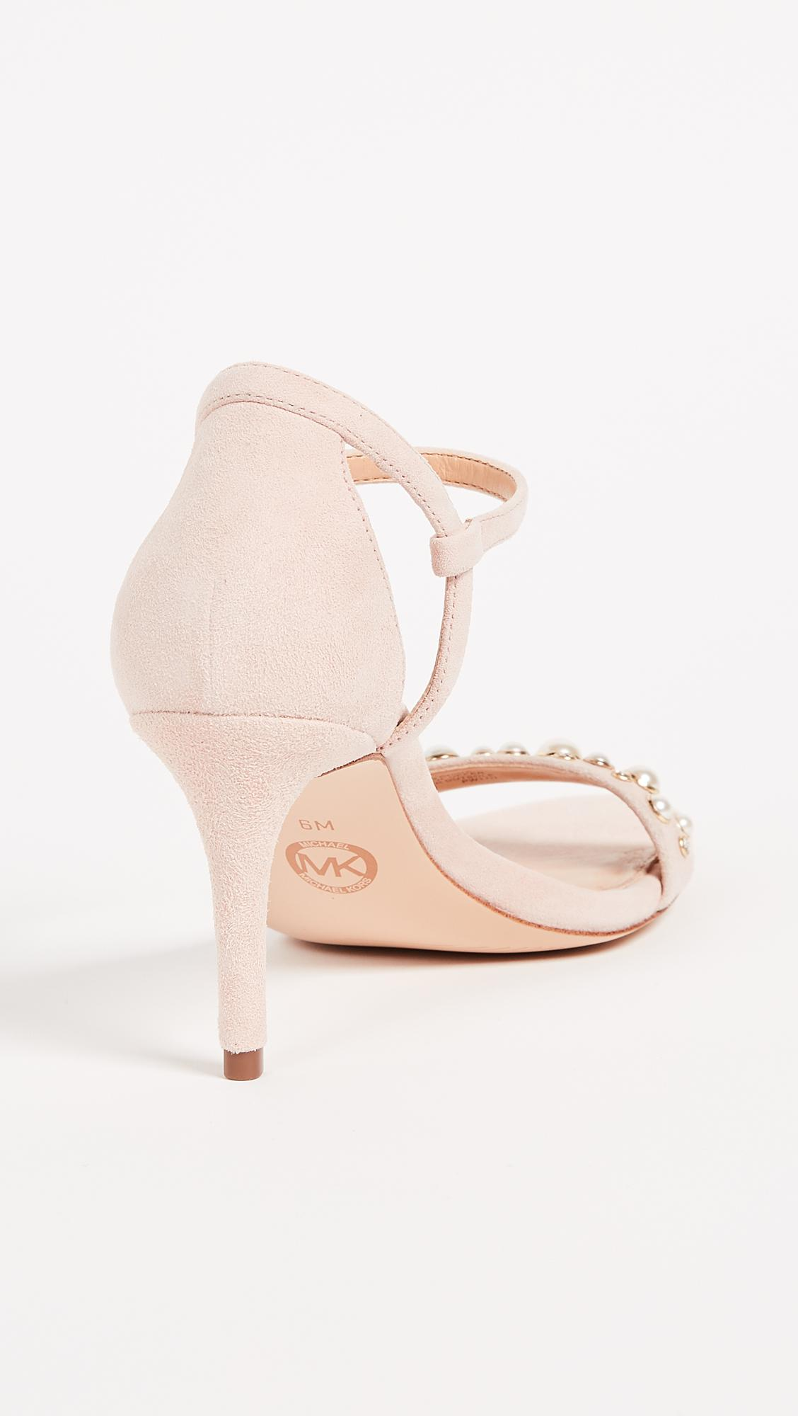 43fcc4a1482a MICHAEL Michael Kors Simone Mid Sandals in Pink - Lyst