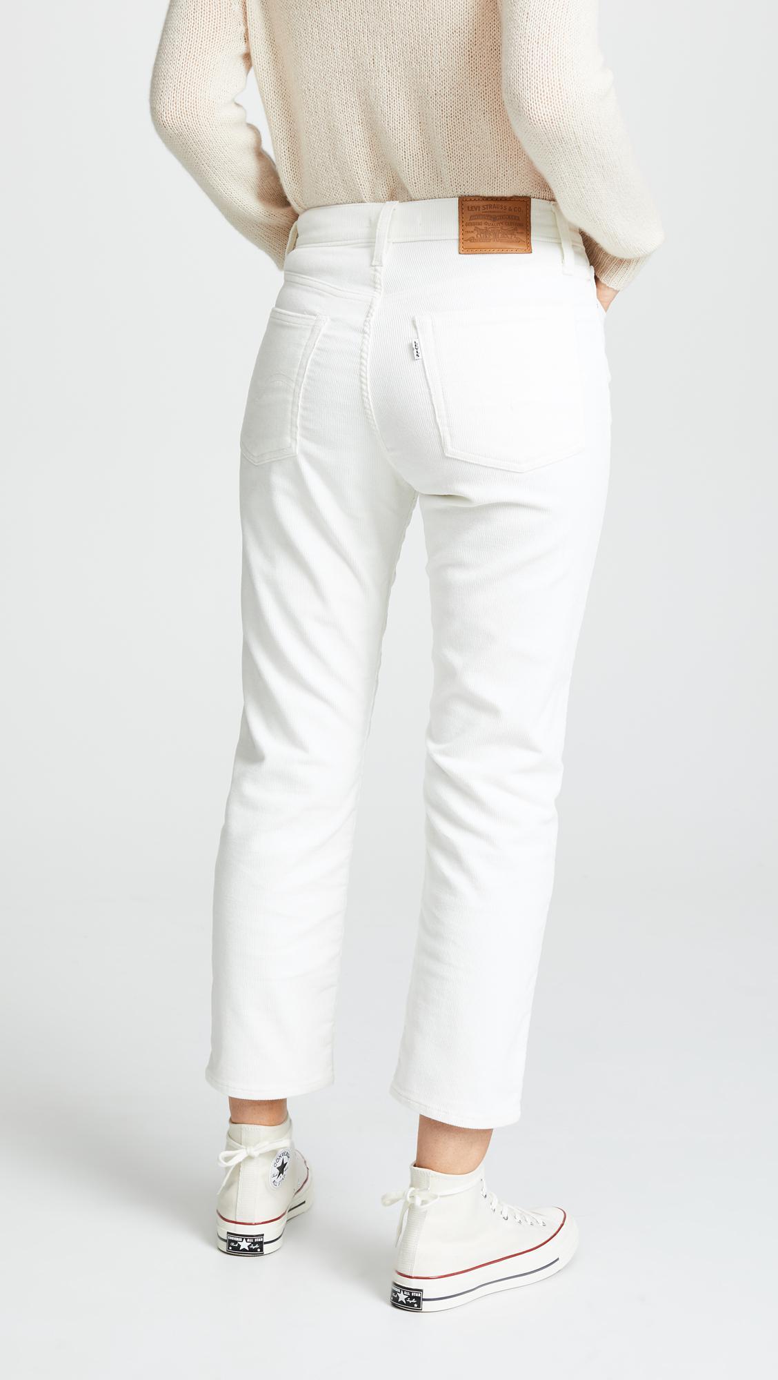 6w1qihwvs Lyst Jeans Wedgie White In Corduroy Straight Levi's N8nOwmyv0