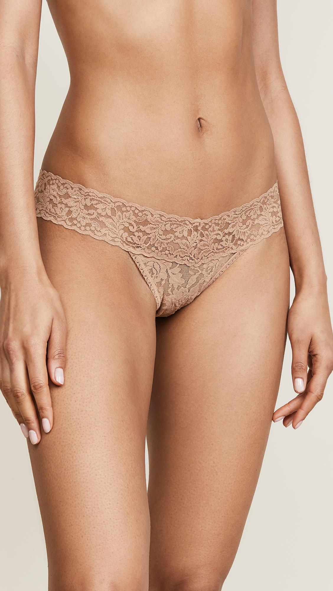 5b7493e86 Hanky Panky Signature Lace Low Rise Thong in Natural - Save 12% - Lyst