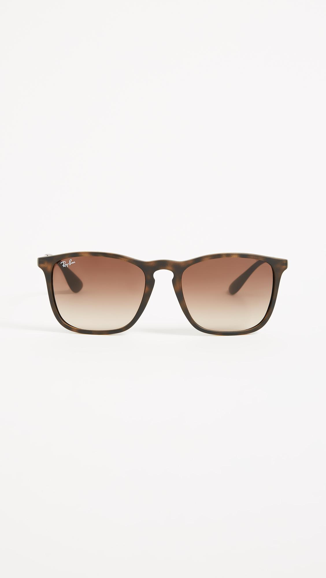 291bfec873 Lyst - Ray-Ban Rb4187 Chris Square Sunglasses in Brown - Save 20%