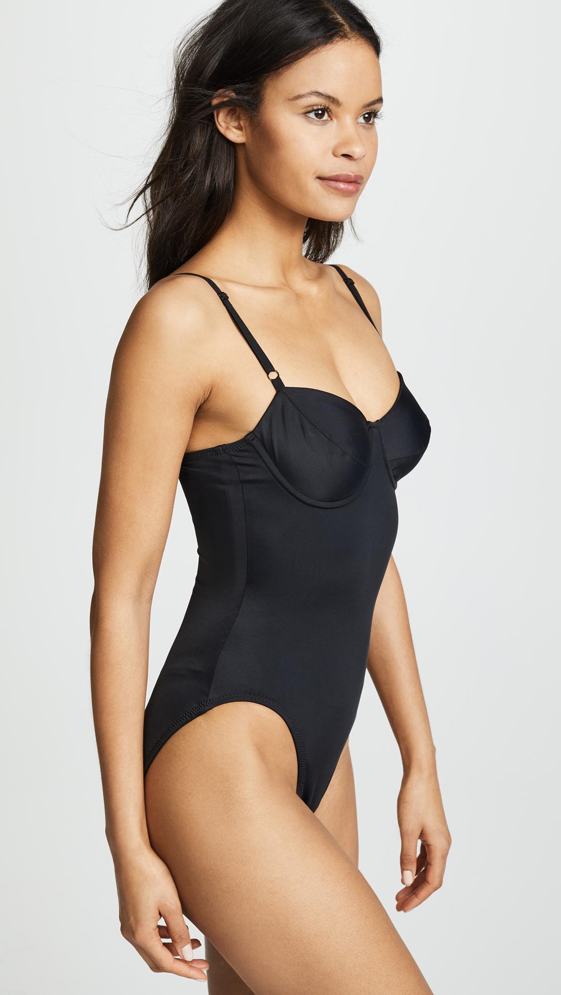 3e5cf2dfe6069 Lyst - Norma Kamali Underwire Mio Swimsuit in Black
