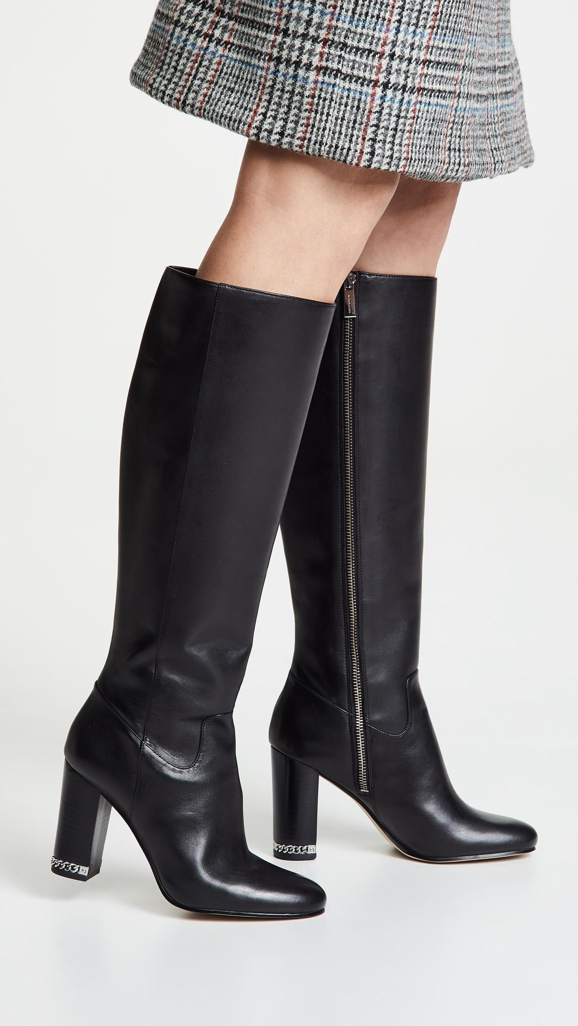 83133afecc55 MICHAEL Michael Kors - Black Walker Tall Boots - Lyst. View fullscreen