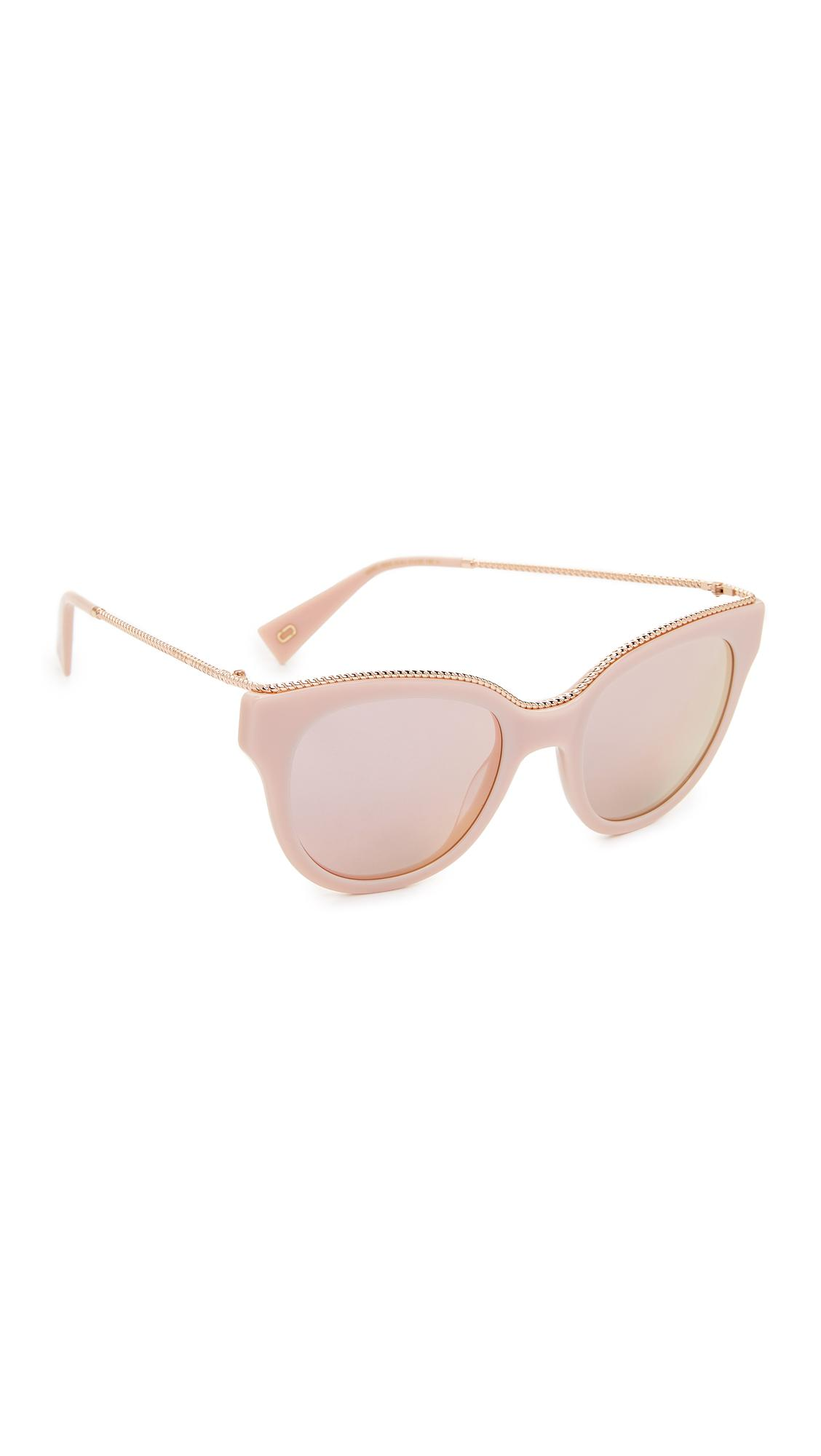 02e34d944cfee Lyst - Marc Jacobs Chain Cat Eye Sunglasses in Pink