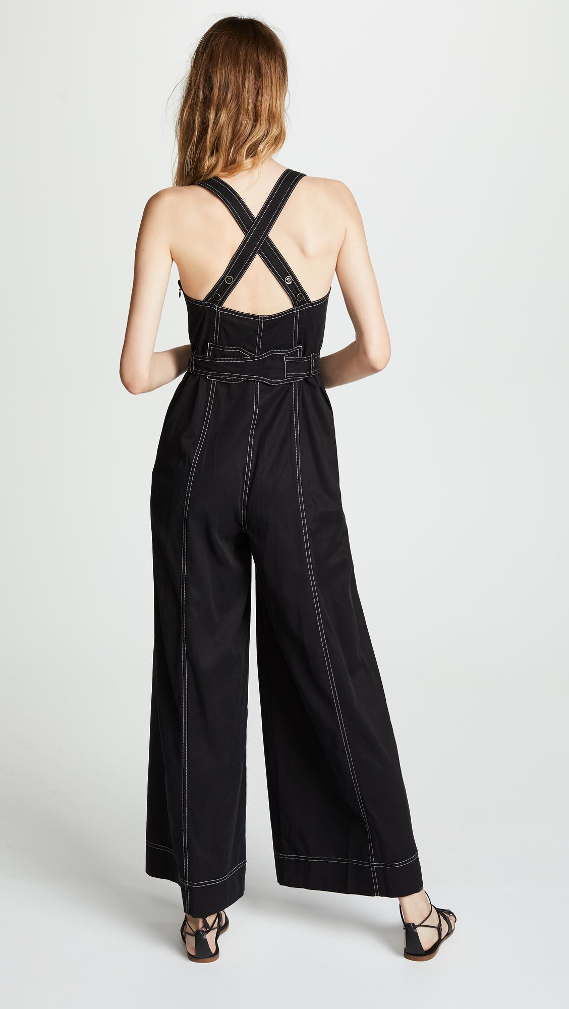8c497510e75 Lyst - Ulla Johnson Weston Jumpsuit in Black