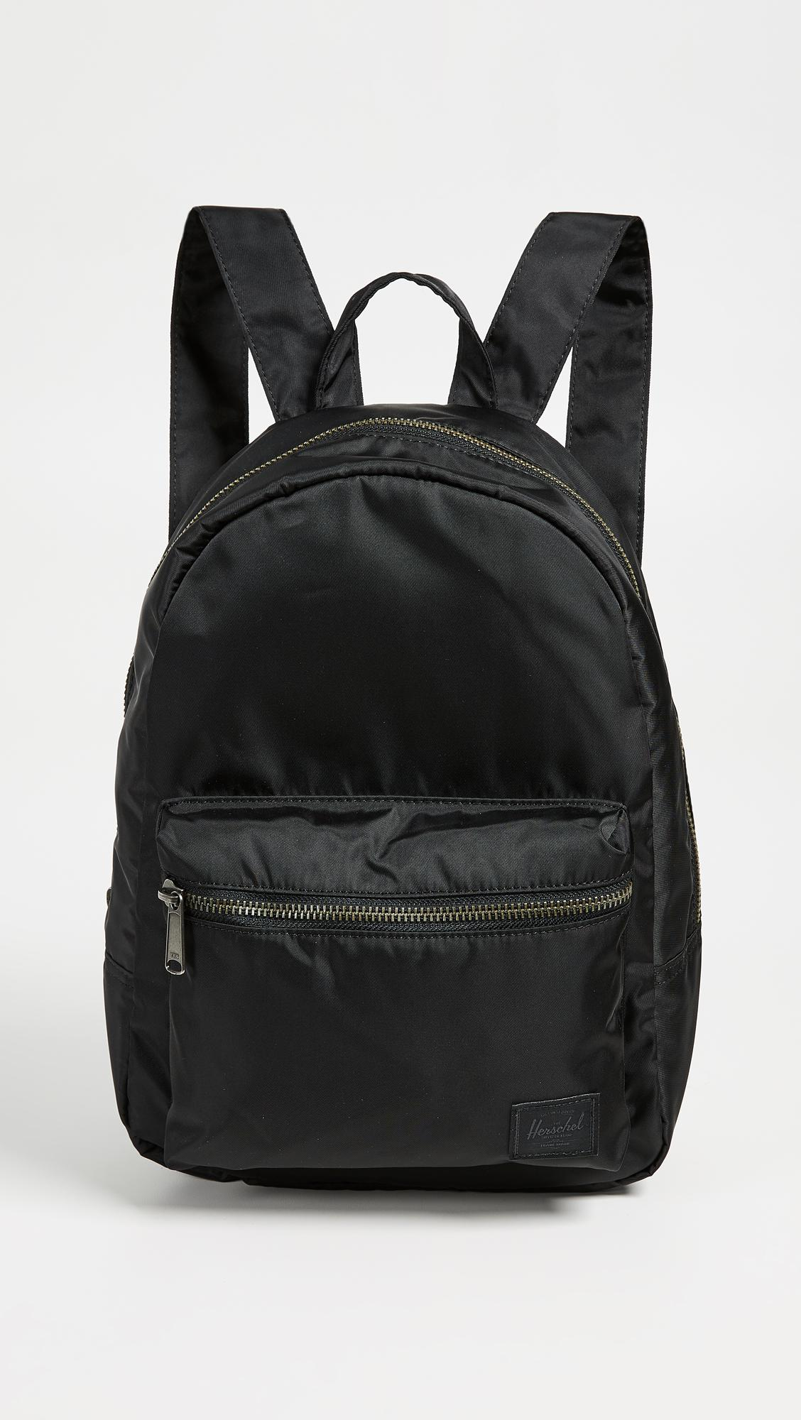 Lyst - Herschel Supply Co. Flight Satin Grove X Small Backpack in Black 6f0a012dc1
