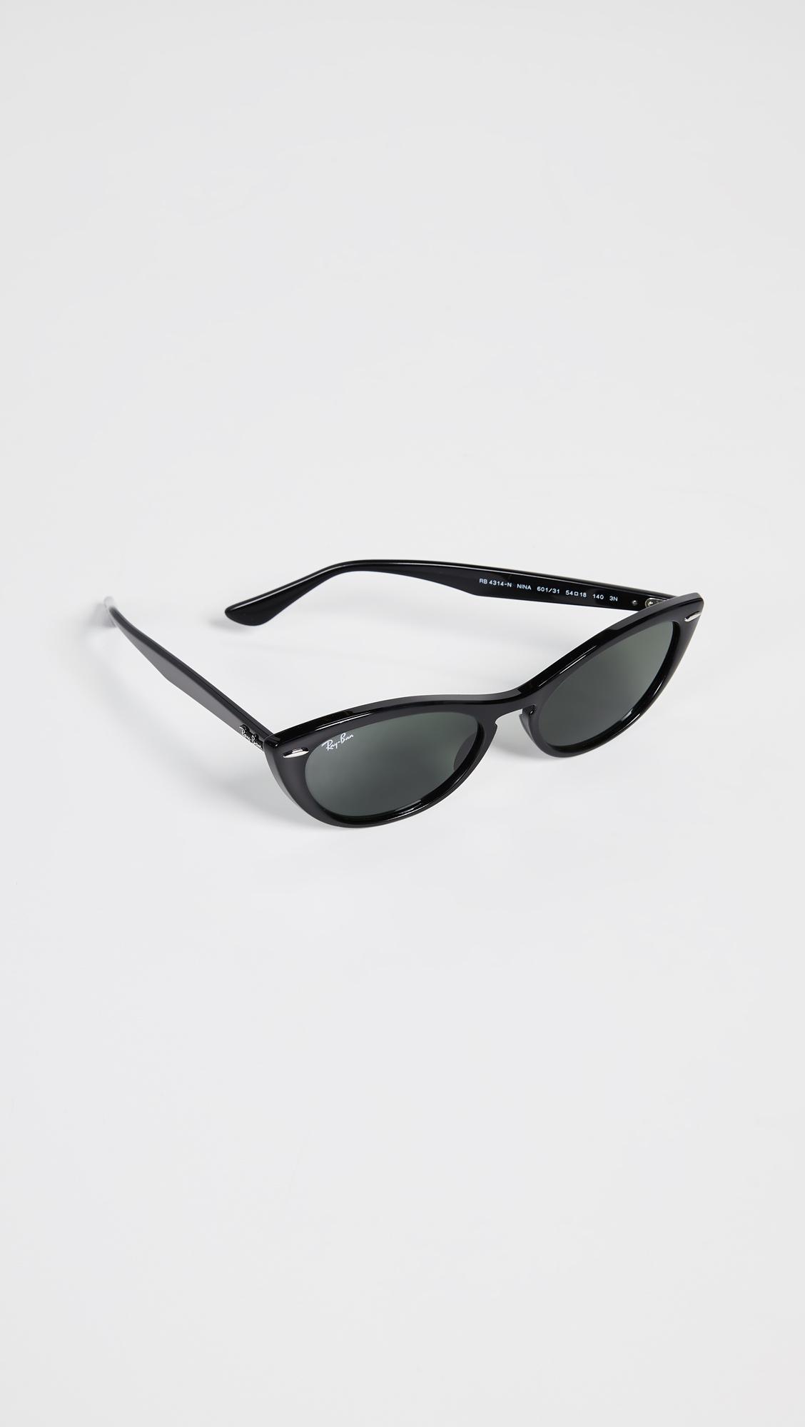 cab35e2fa761 Lyst - Ray-Ban Rb4314n Women's Cat's Eye Sunglasses in Black