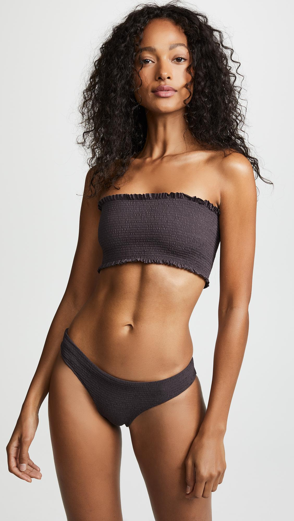 ca548c1d631c4 Lyst - Pilyq Coco Smocked Bandeau Bikini Top