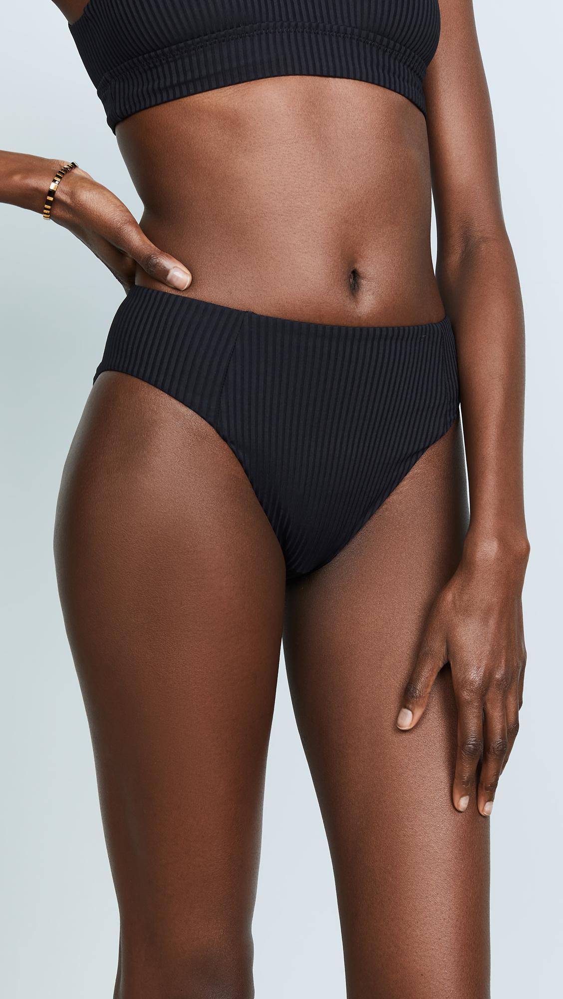 fc9be247494 Vitamin A Sienna High Waist Bikini Bottoms in Black - Lyst