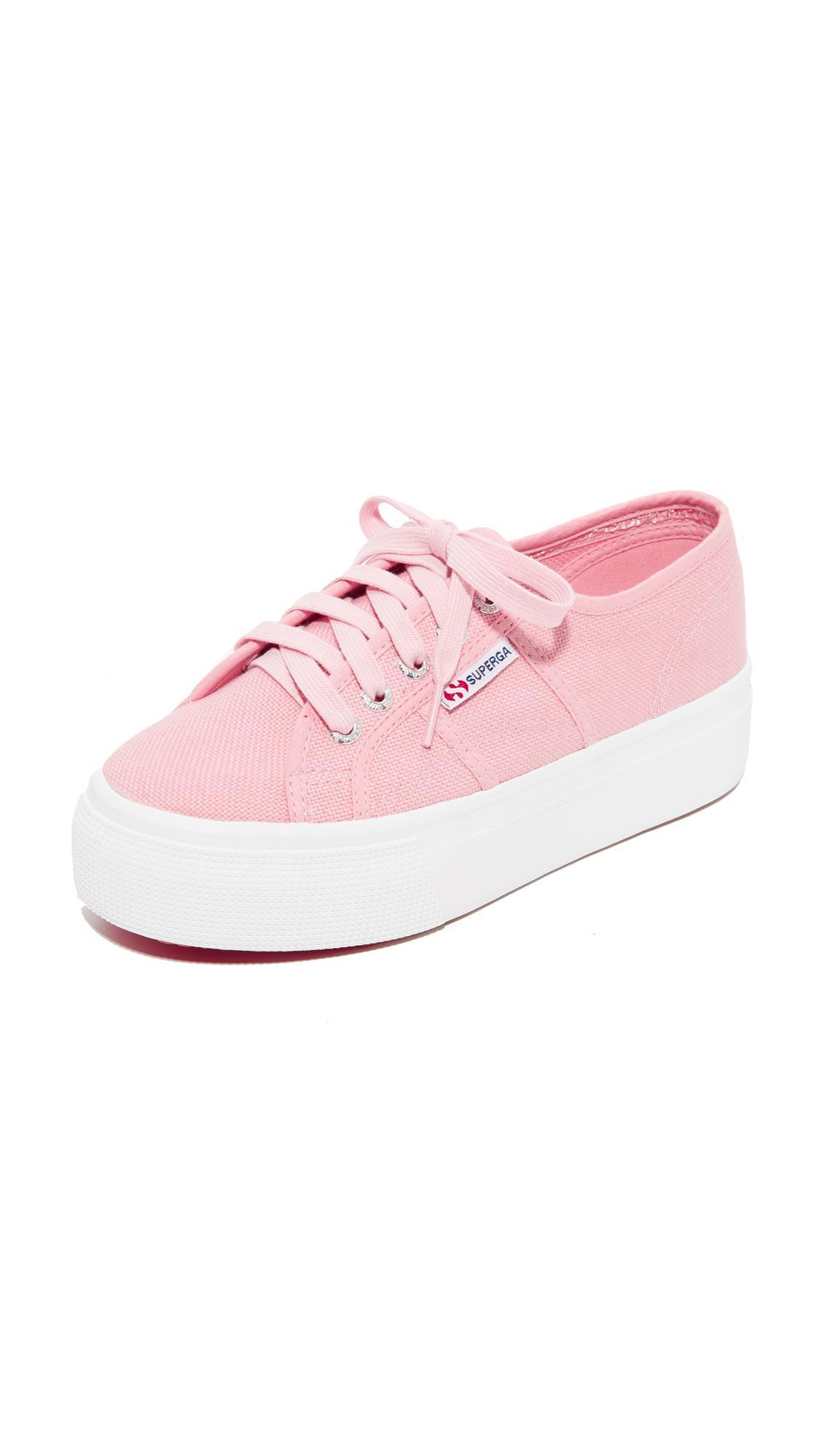 2d363a9387f1 Superga - Pink 2790 Platform Sneakers - Lyst. View fullscreen