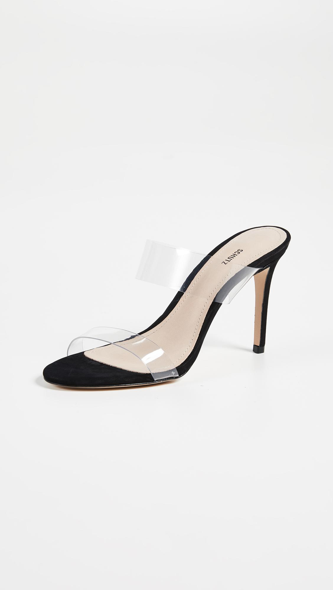 61a33b37a3e Schutz Ariella Strappy Sandals in Black - Lyst