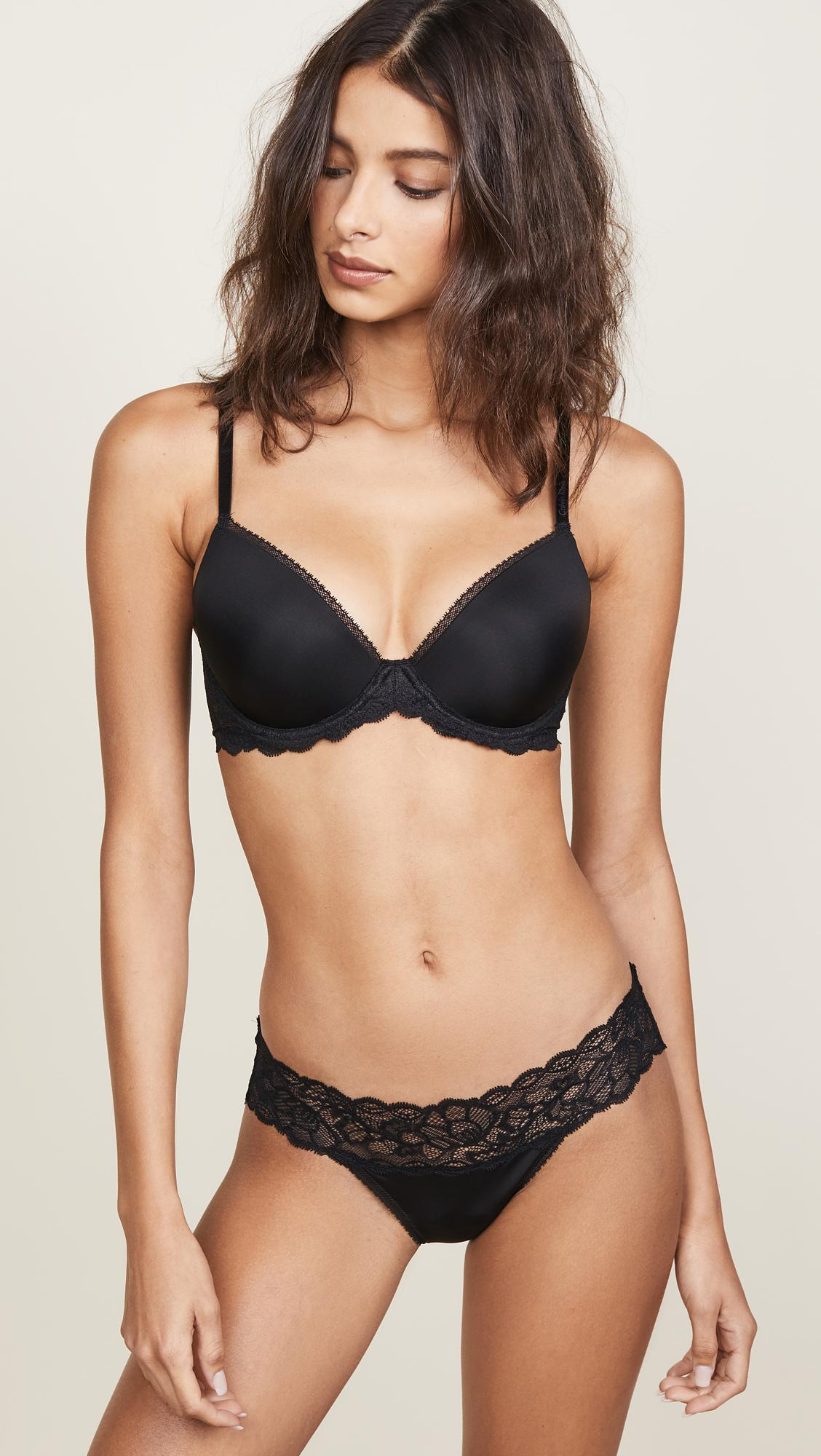 32e9e07d2d Calvin Klein. Women s Black Seductive Comfort Demi Lift Multiway Bra