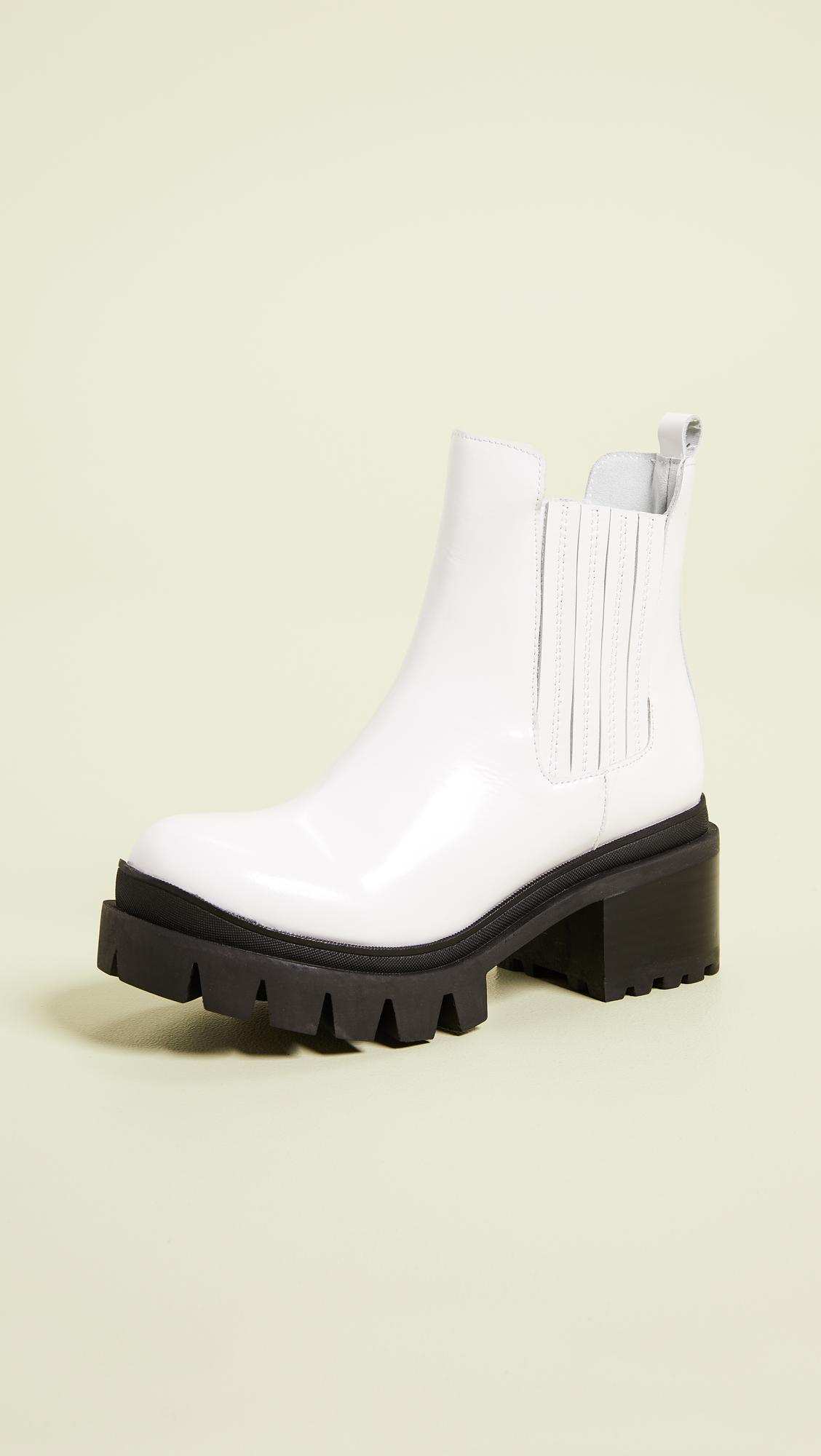 be452787560 Lyst - Jeffrey Campbell Fright Lug Sole Chelsea Boots in White
