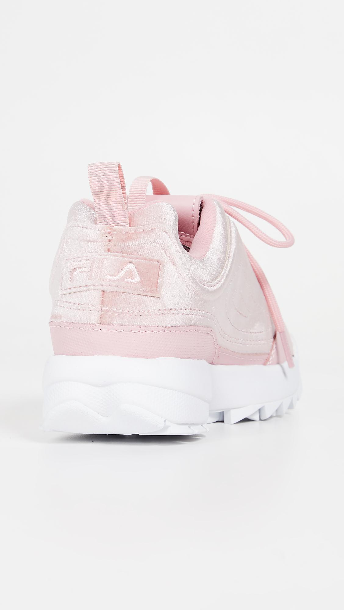 2fdddae560 Fila Disruptor Ii Premium Velour Sneakers in Pink - Lyst