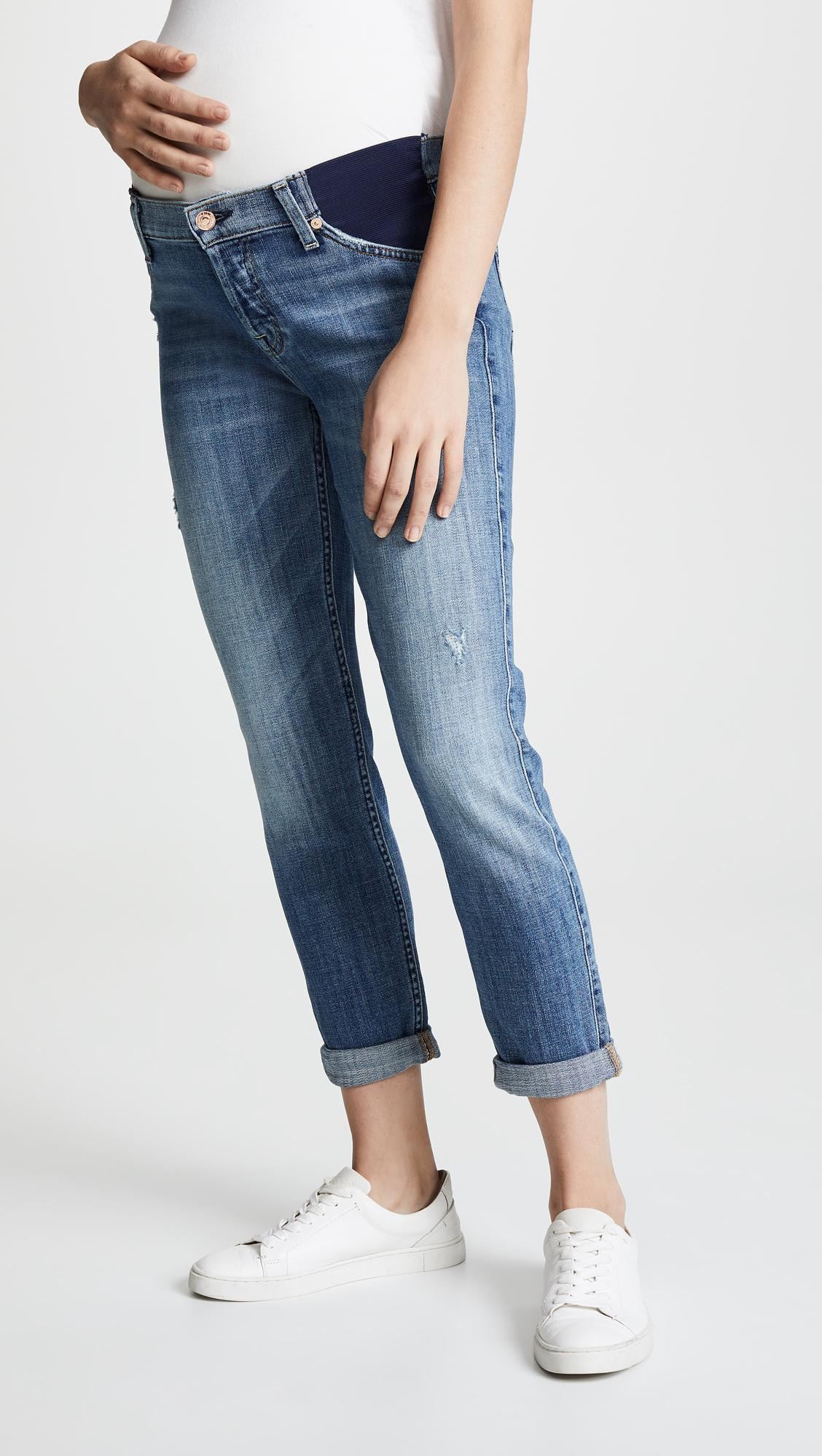 e92162ac9bb9a 7 For All Mankind Josefina Maternity Jeans in Blue - Lyst