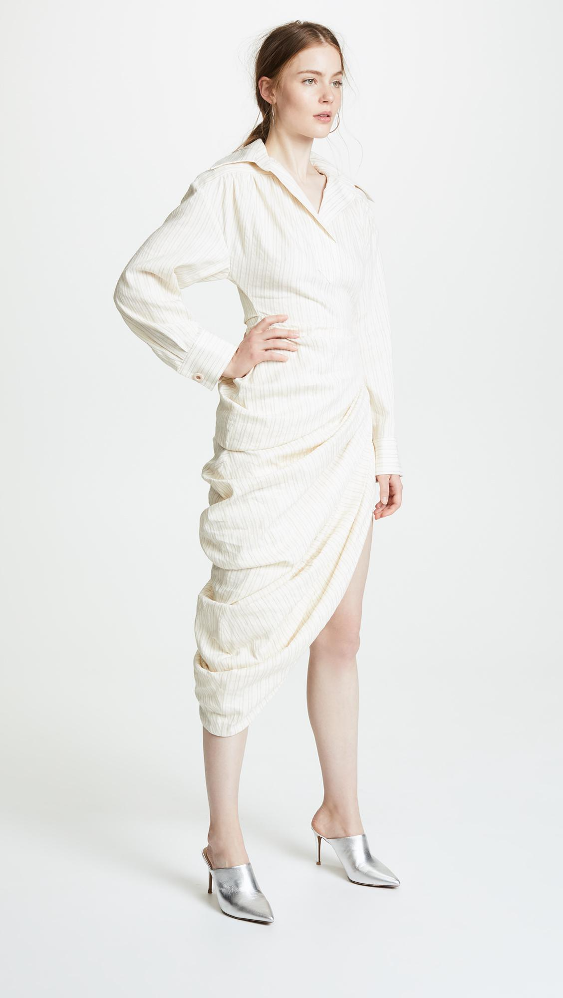 2f0115a945 Jacquemus Amadora Dress in Natural - Lyst