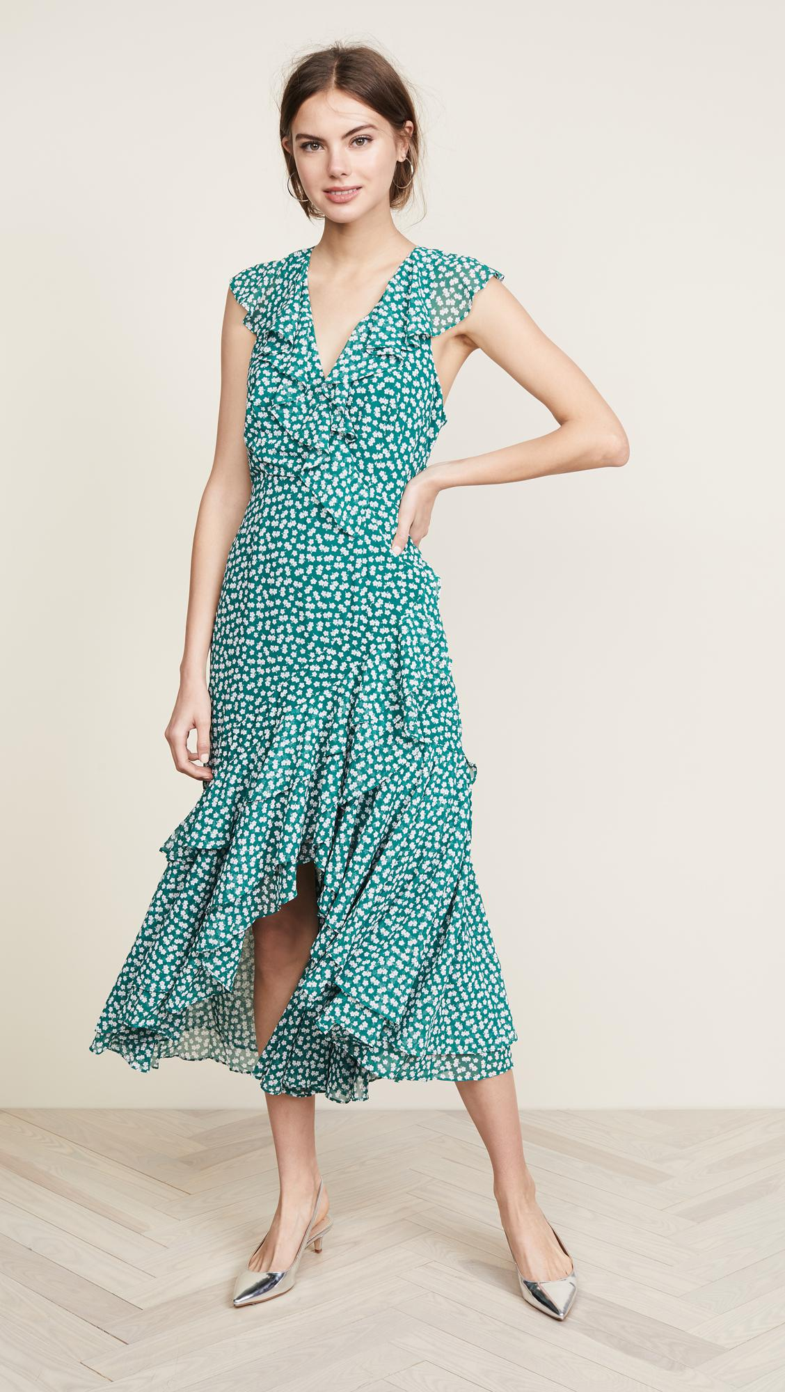 a7c6ae8125ba C/meo Collective Be About You Ruffle Midi Dress in Green - Lyst