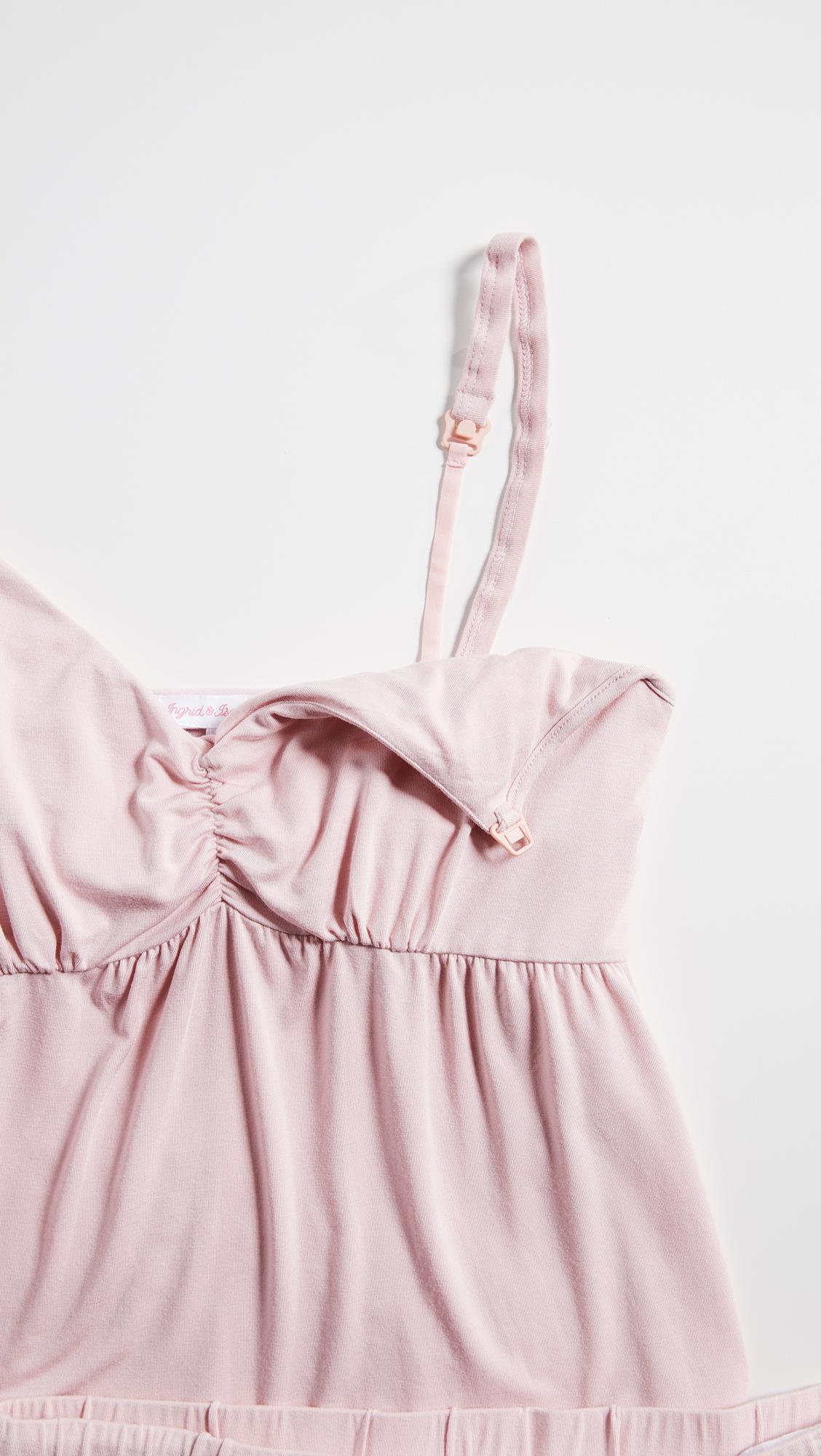 e11fa4de39252 Ingrid & Isabel Maternity Pajama Set in Pink - Lyst