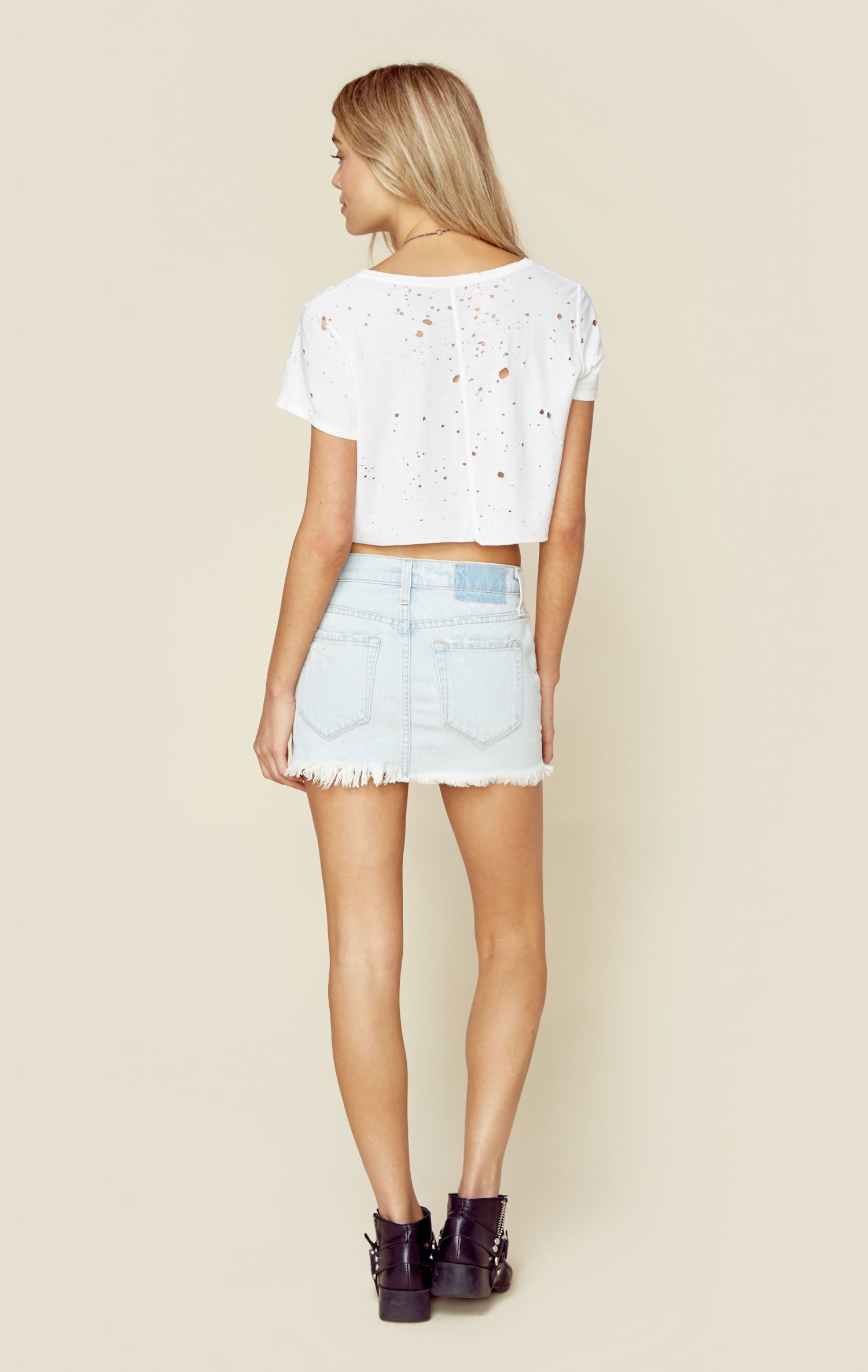 ksubi mini skirt in blue lyst