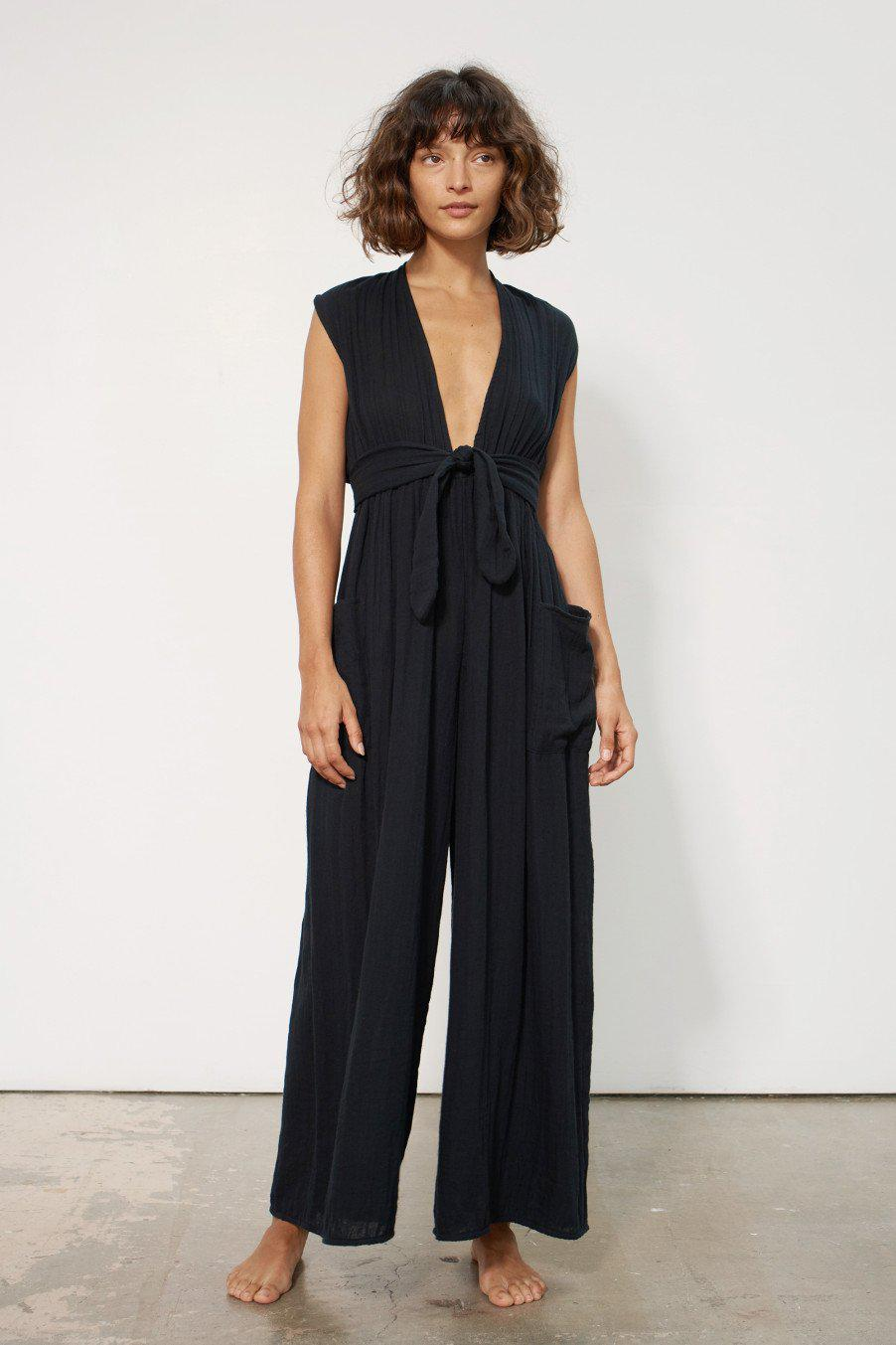 b7d2f9d359b Lyst - Mara Hoffman Whitney Jumpsuit In Black in Black