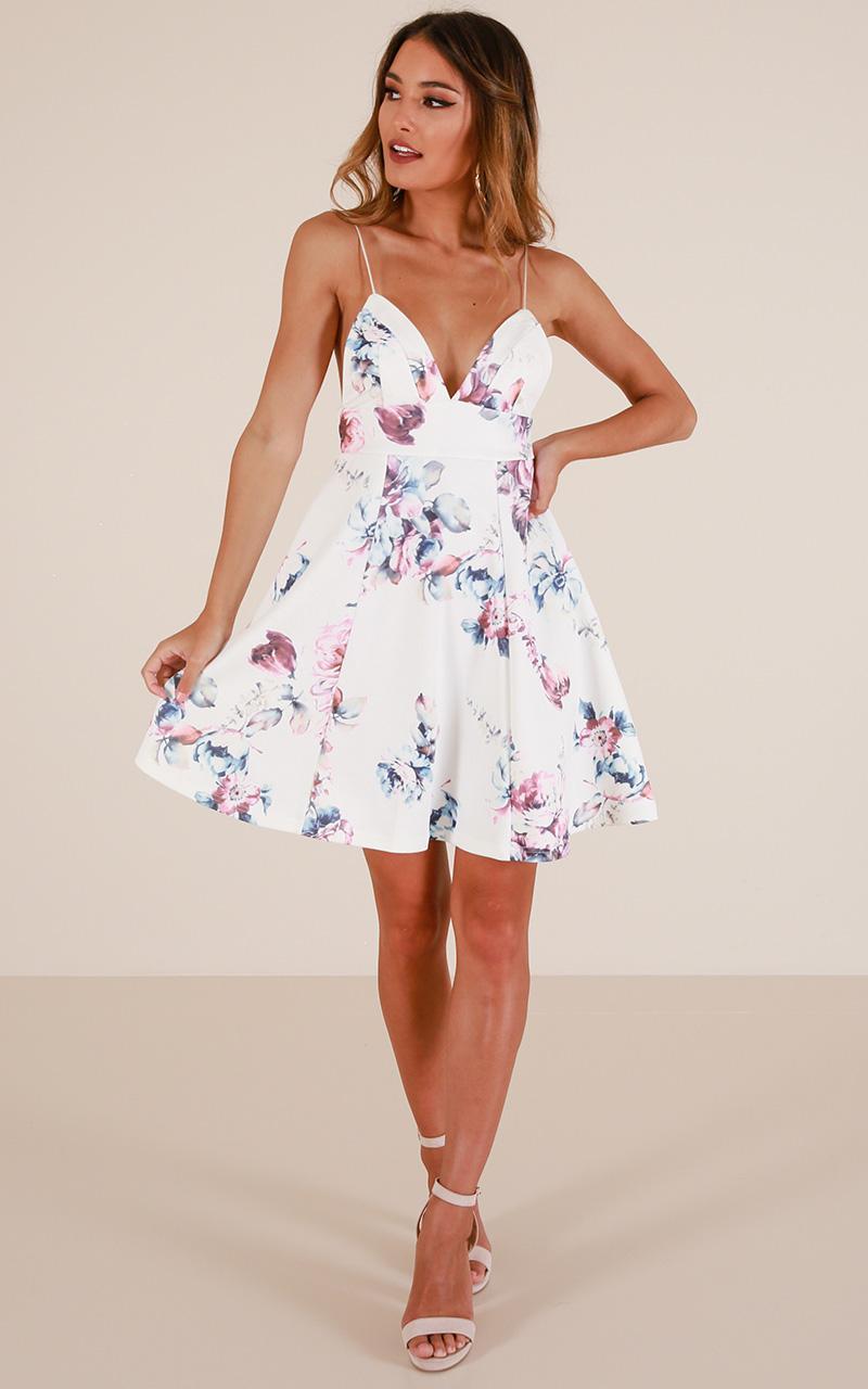Lyst - Showpo Poison Heart Dress In White Floral in White 183ed4ca8