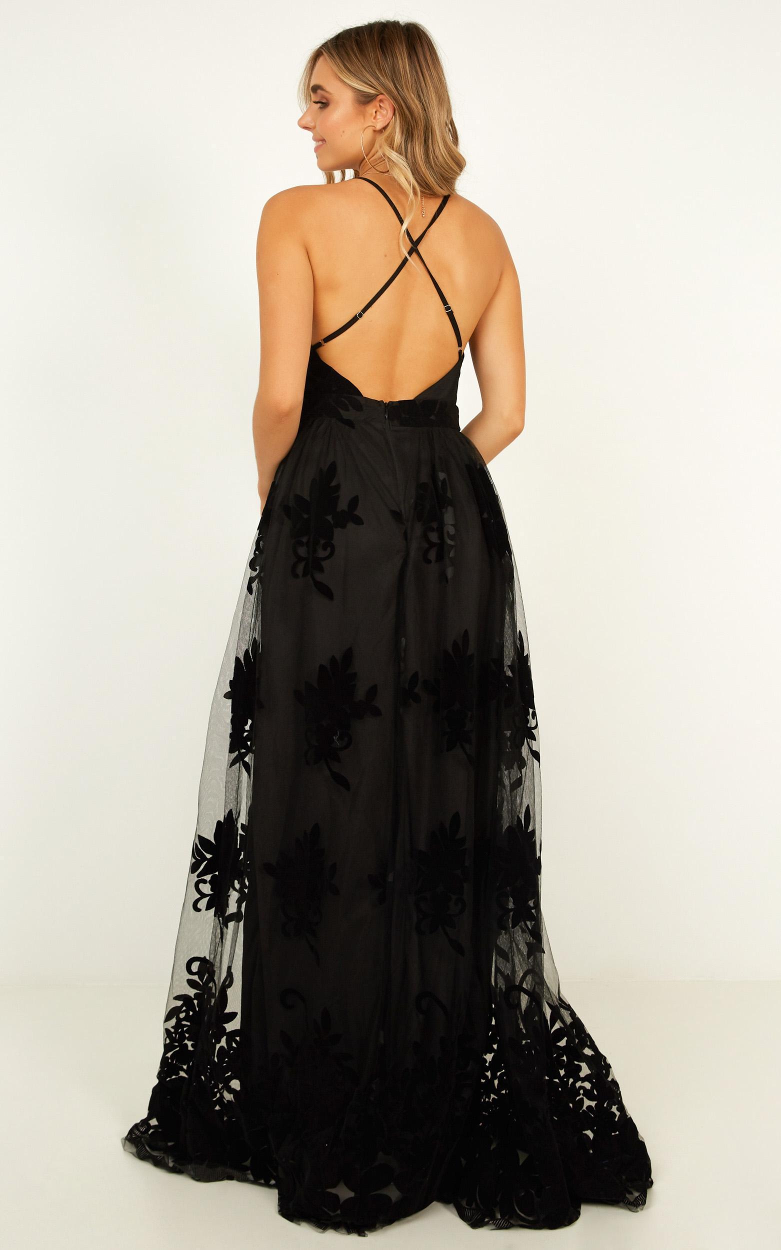 f969d8fb368 Showpo - Black Promenade Maxi Dress - Lyst. View fullscreen